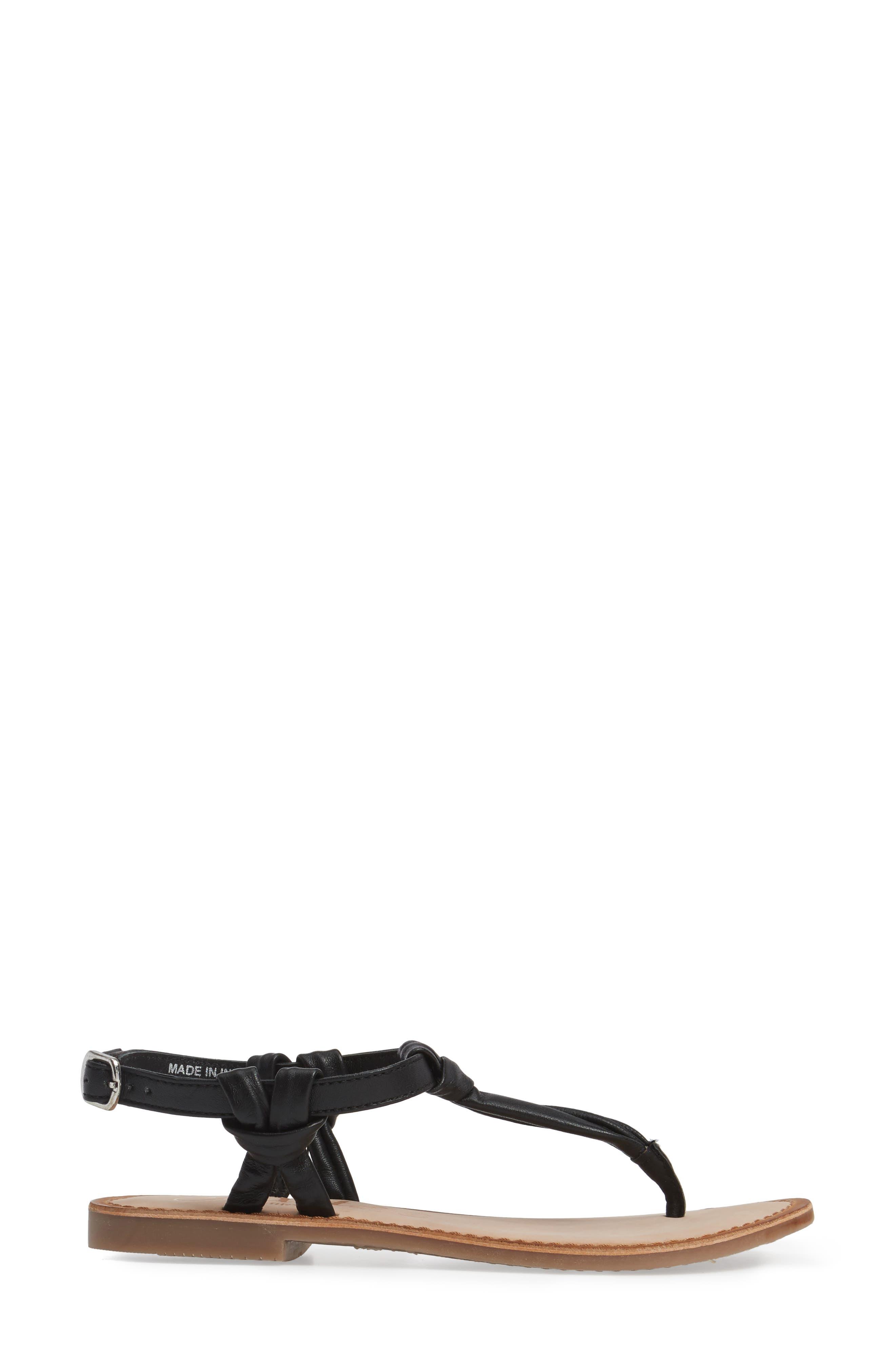 Azza T-Strap Sandal,                             Alternate thumbnail 3, color,                             001
