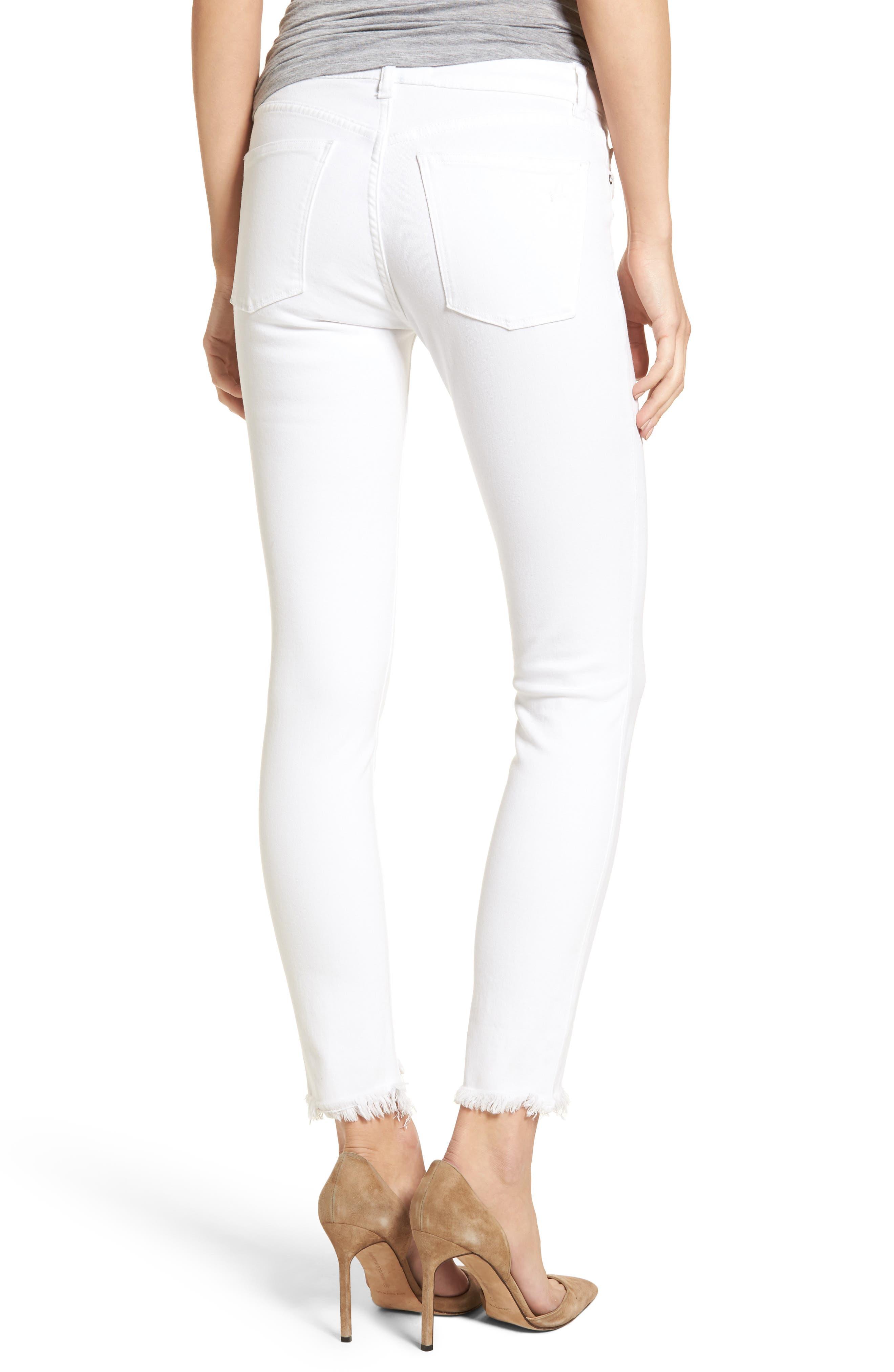 Margaux Instasculpt Ankle Skinny Jeans,                             Alternate thumbnail 2, color,                             100