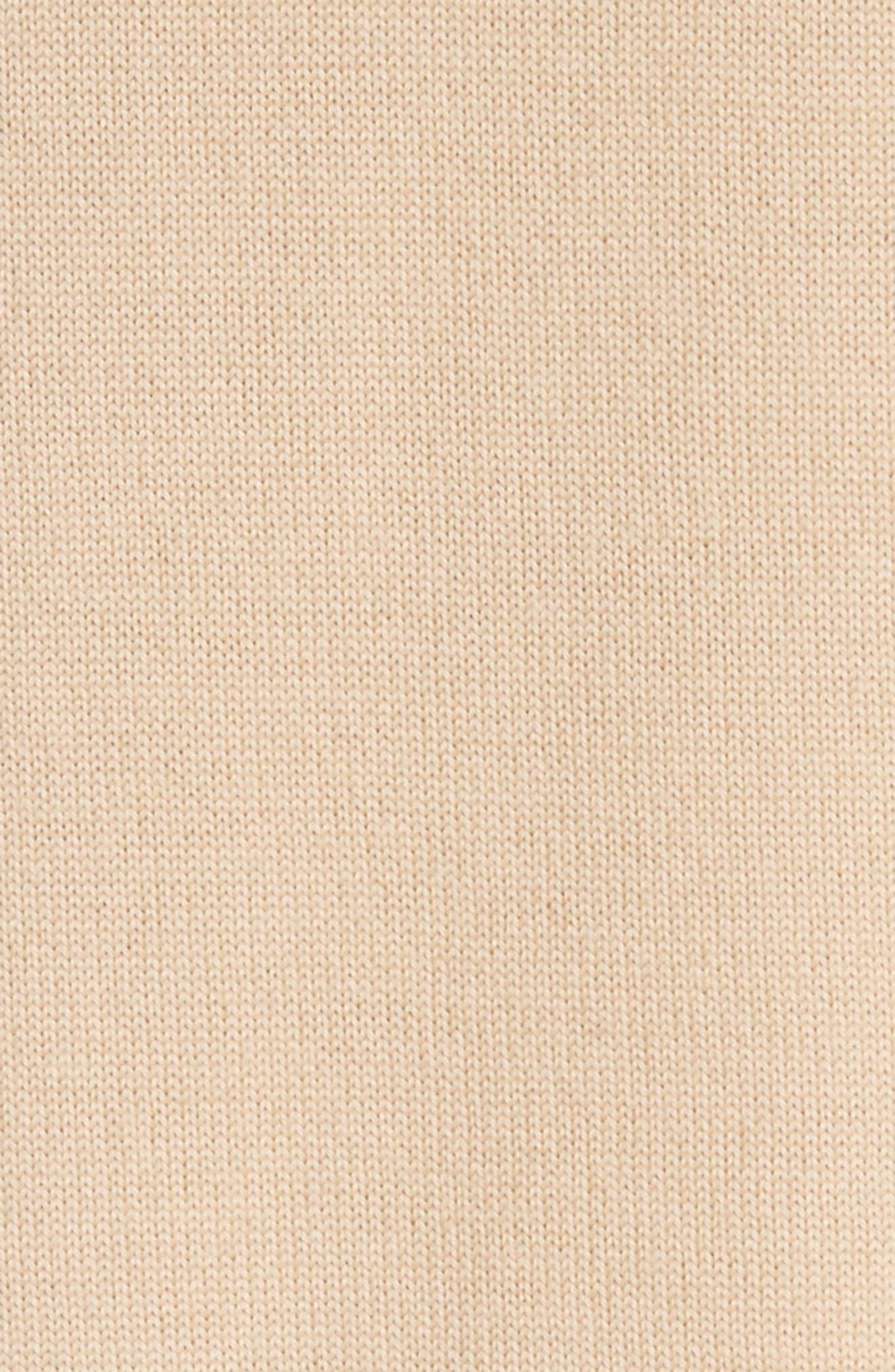Stripe Jersey Knit Cardigan,                             Alternate thumbnail 5, color,                             WHITE MULTI