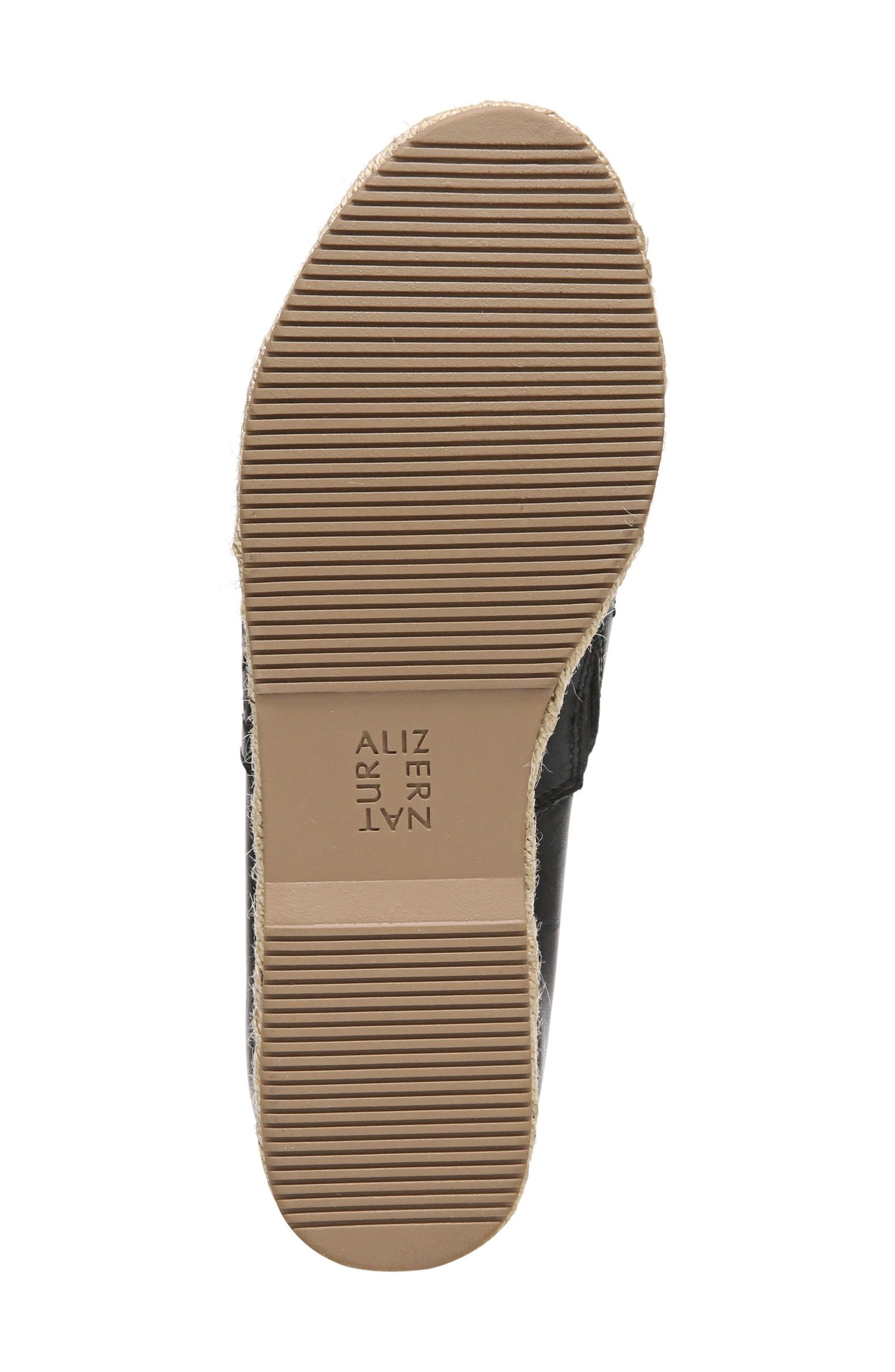 Thea Perforated Platform Espadrille,                             Alternate thumbnail 6, color,                             001