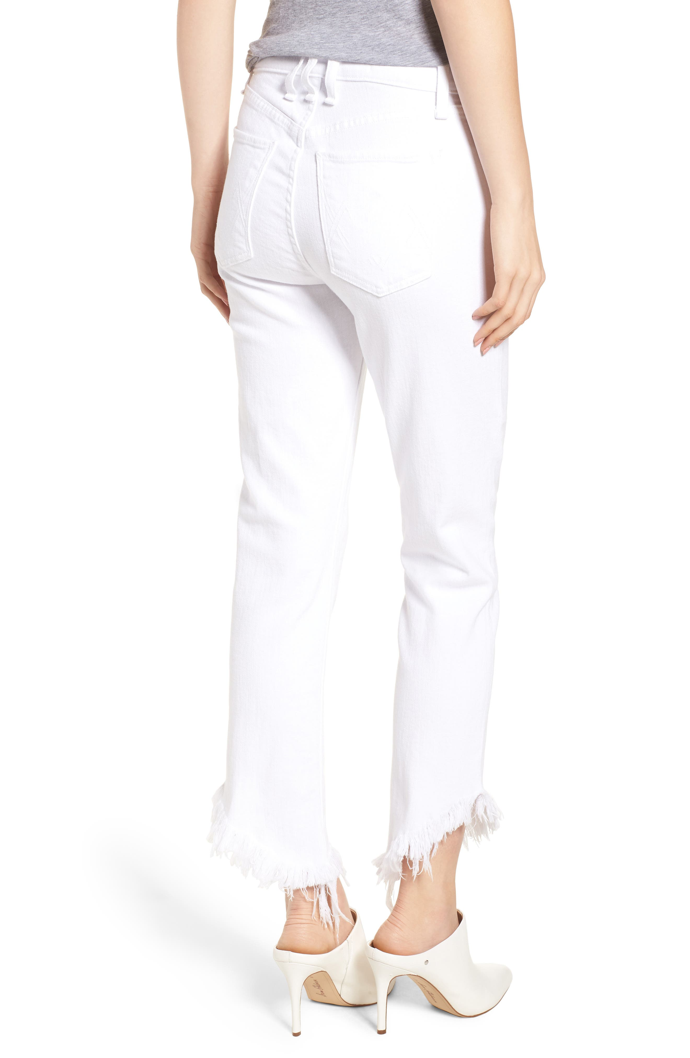 Valletta High Waist Crop Straight Leg Jeans,                             Alternate thumbnail 2, color,                             100