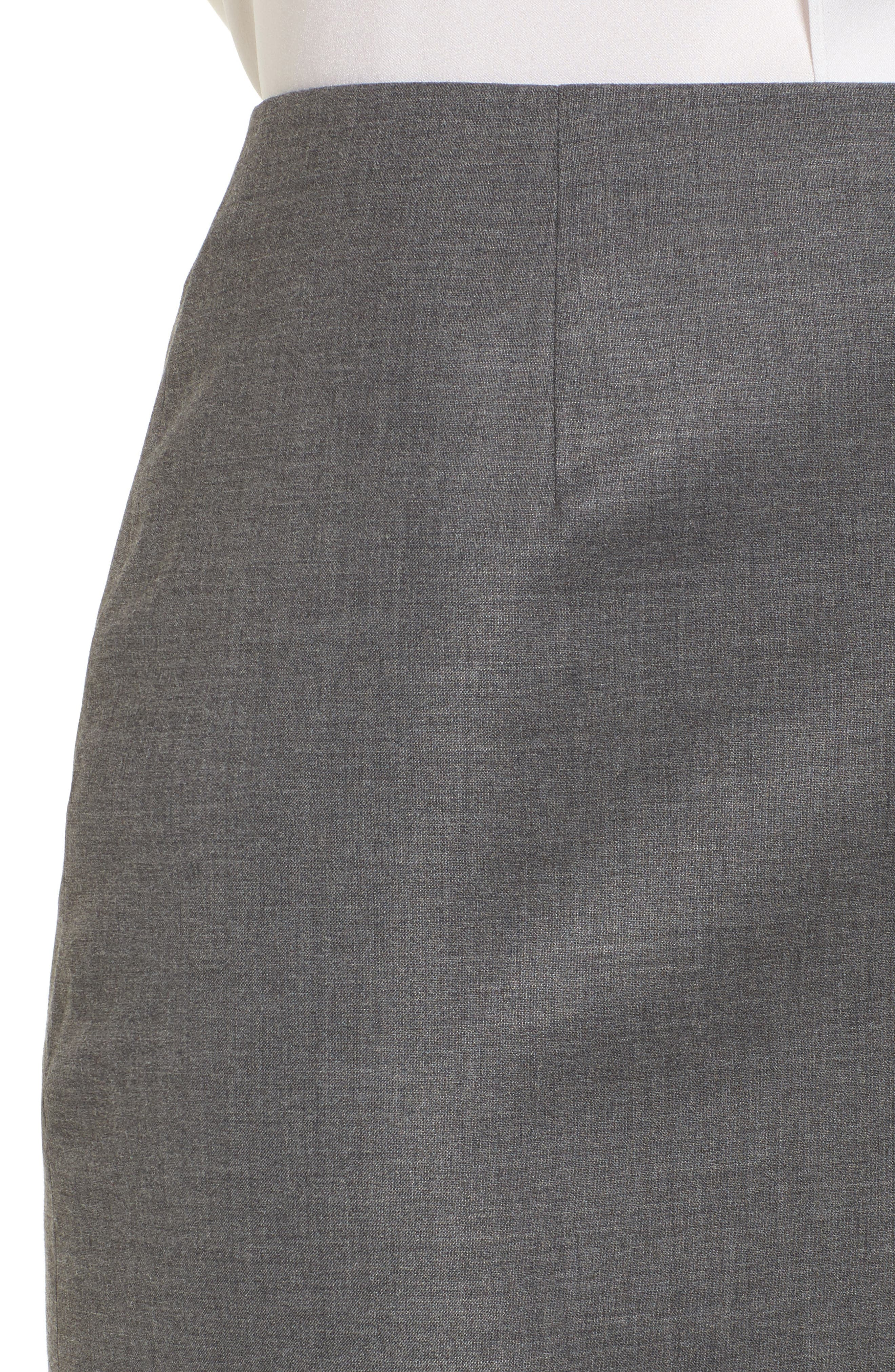Vileana Wool Blend Suit Skirt,                             Alternate thumbnail 4, color,                             020