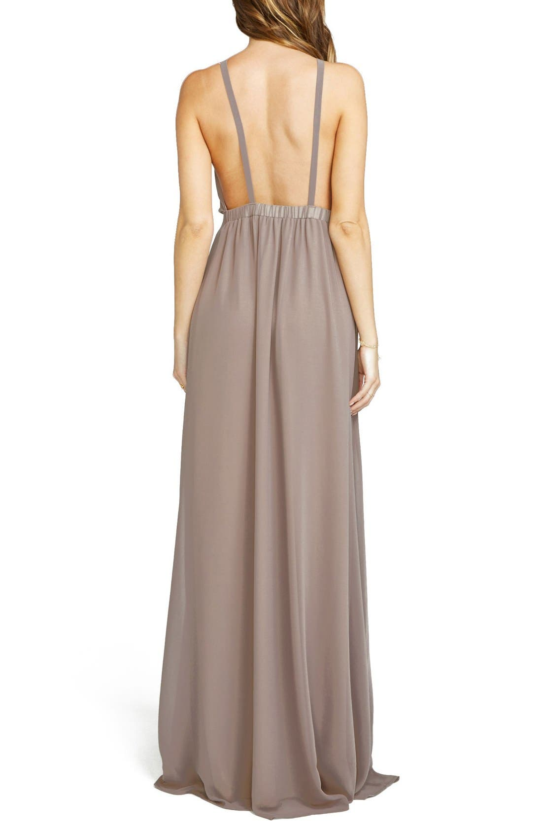 Amanda Open Back Blouson Gown,                             Alternate thumbnail 16, color,