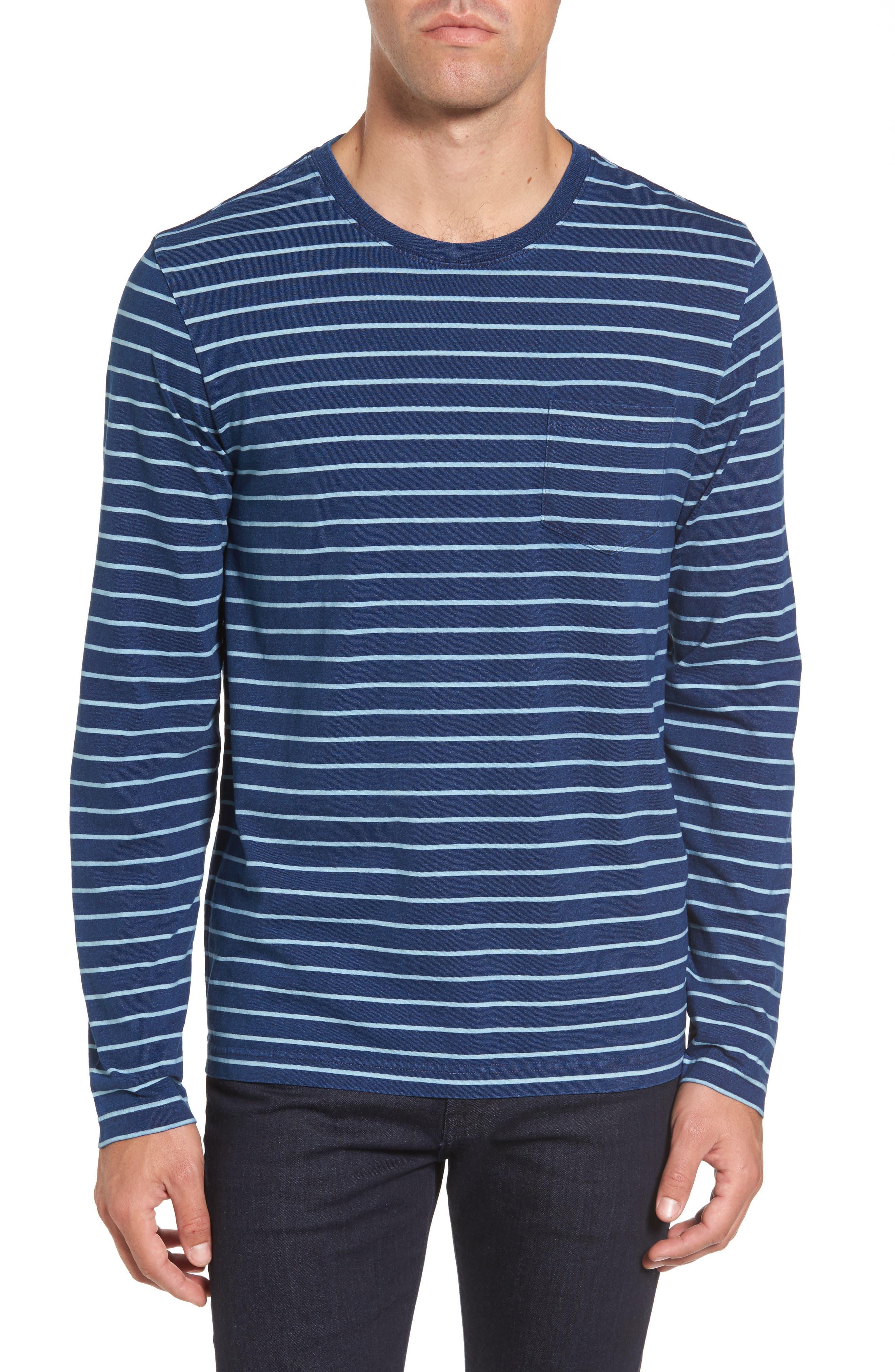 Sailor Stripe Jersey T-Shirt,                             Main thumbnail 1, color,                             104