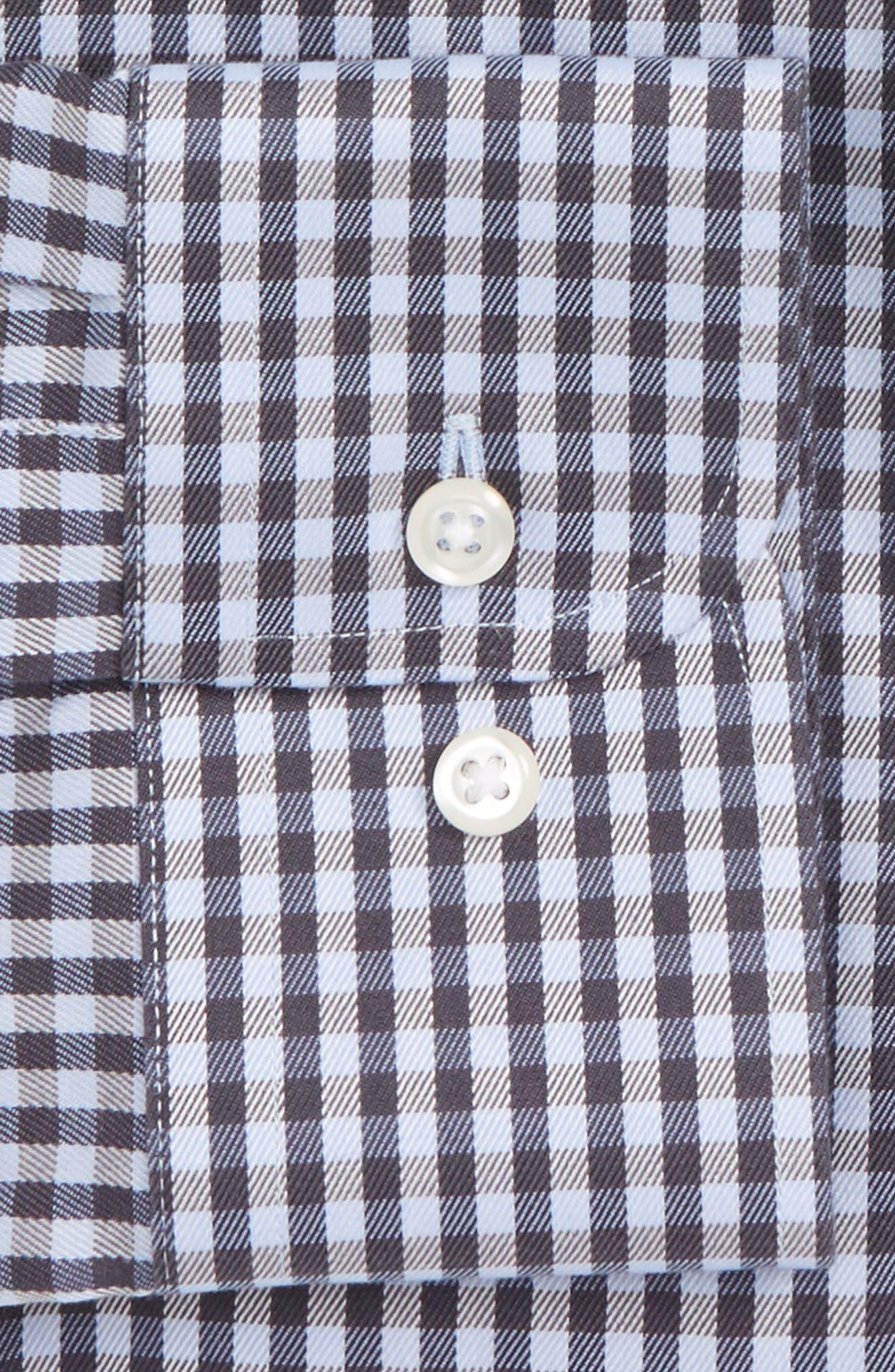 Smartcare<sup>™</sup> Extra Trim Fit Check Dress Shirt,                             Alternate thumbnail 2, color,                             030