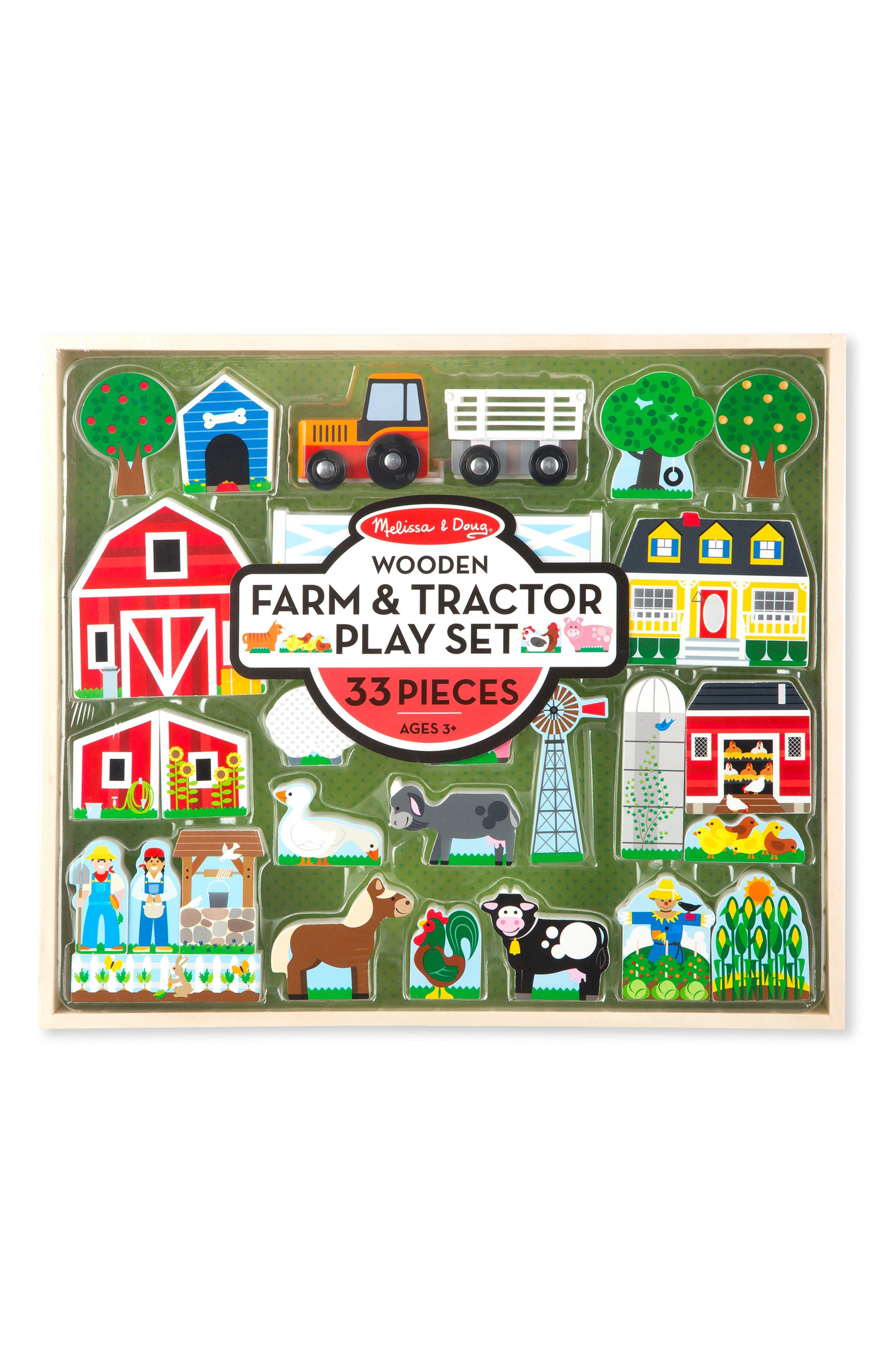 Toddler Boys Melissa  Doug Wooden Farm  Tractor Play Set