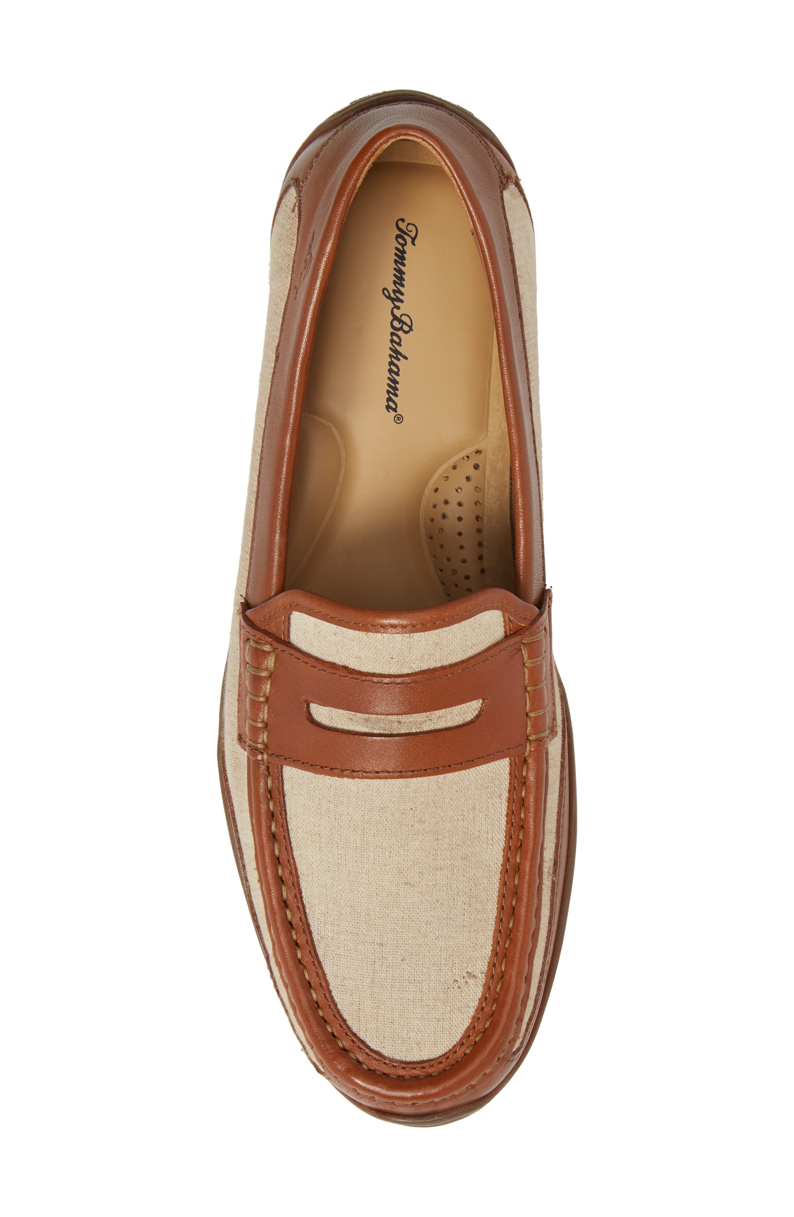 Taza Fronds Driving Shoe,                             Alternate thumbnail 5, color,                             BROWN/ NATURAL LEATHER/ LINEN
