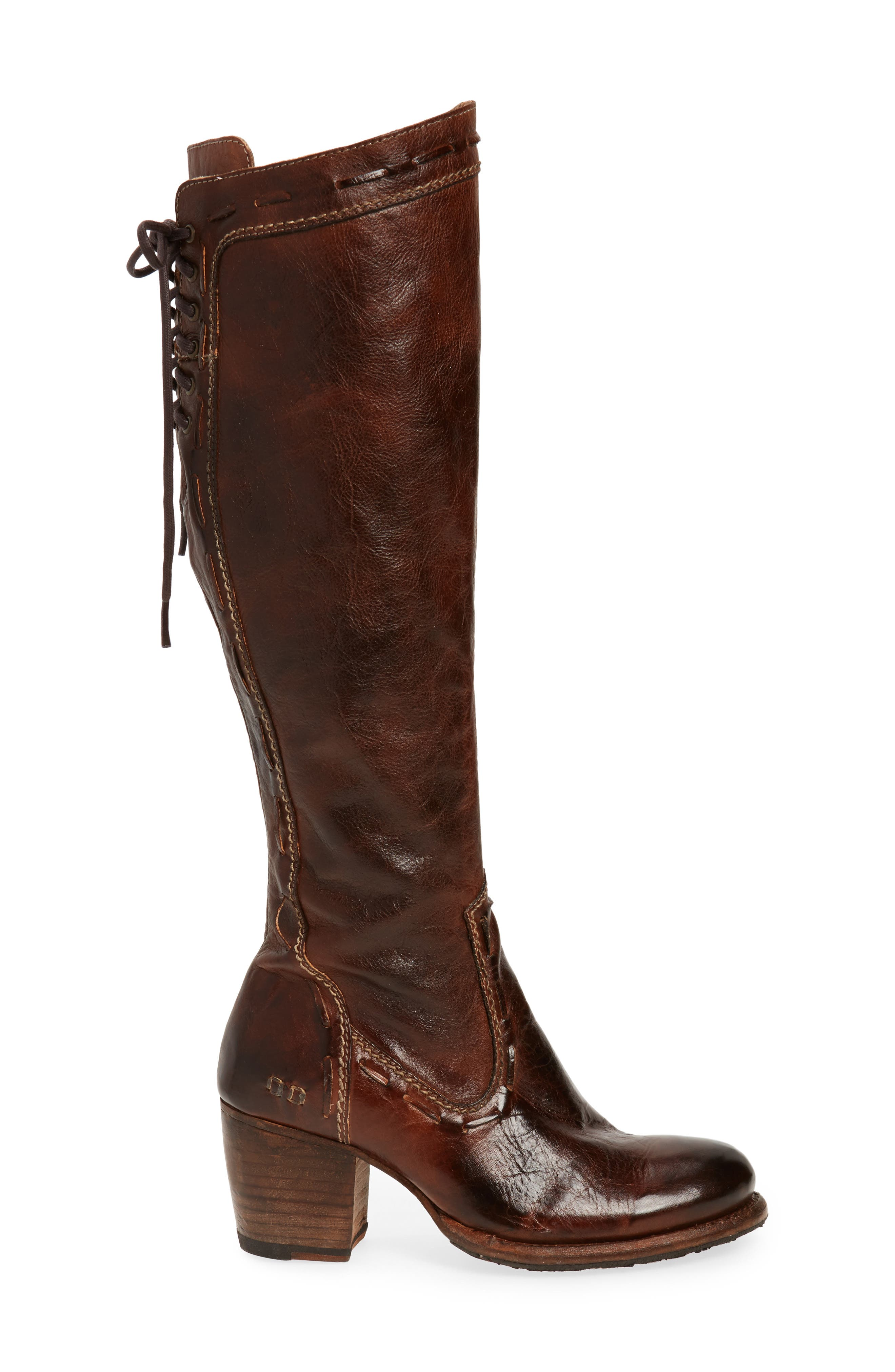 Fortune Knee High Boot,                             Alternate thumbnail 3, color,                             TEAK RUSTIC