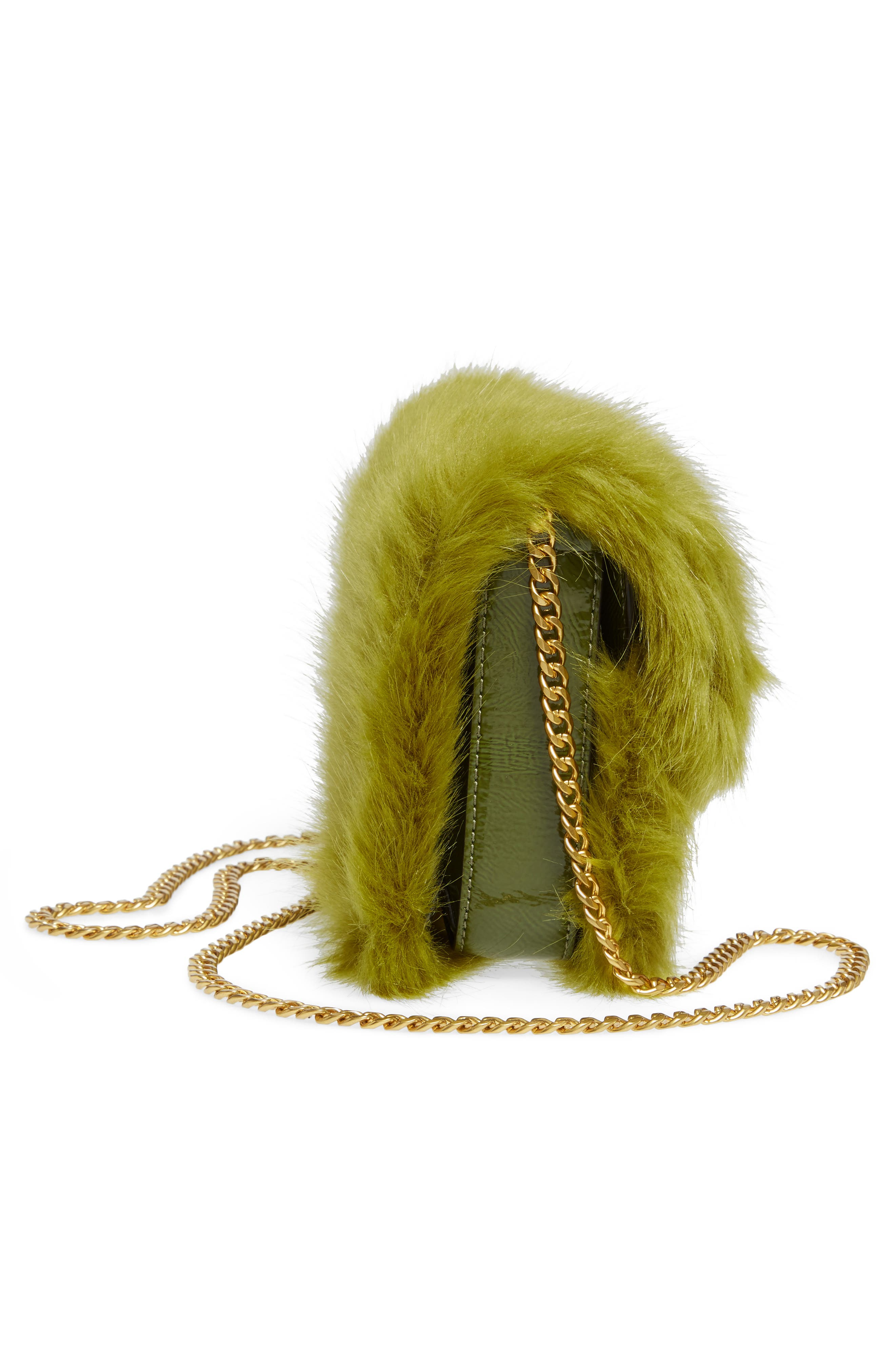 Mini Chelsea Faux Fur Convertible Crossbody Bag,                             Alternate thumbnail 5, color,                             320