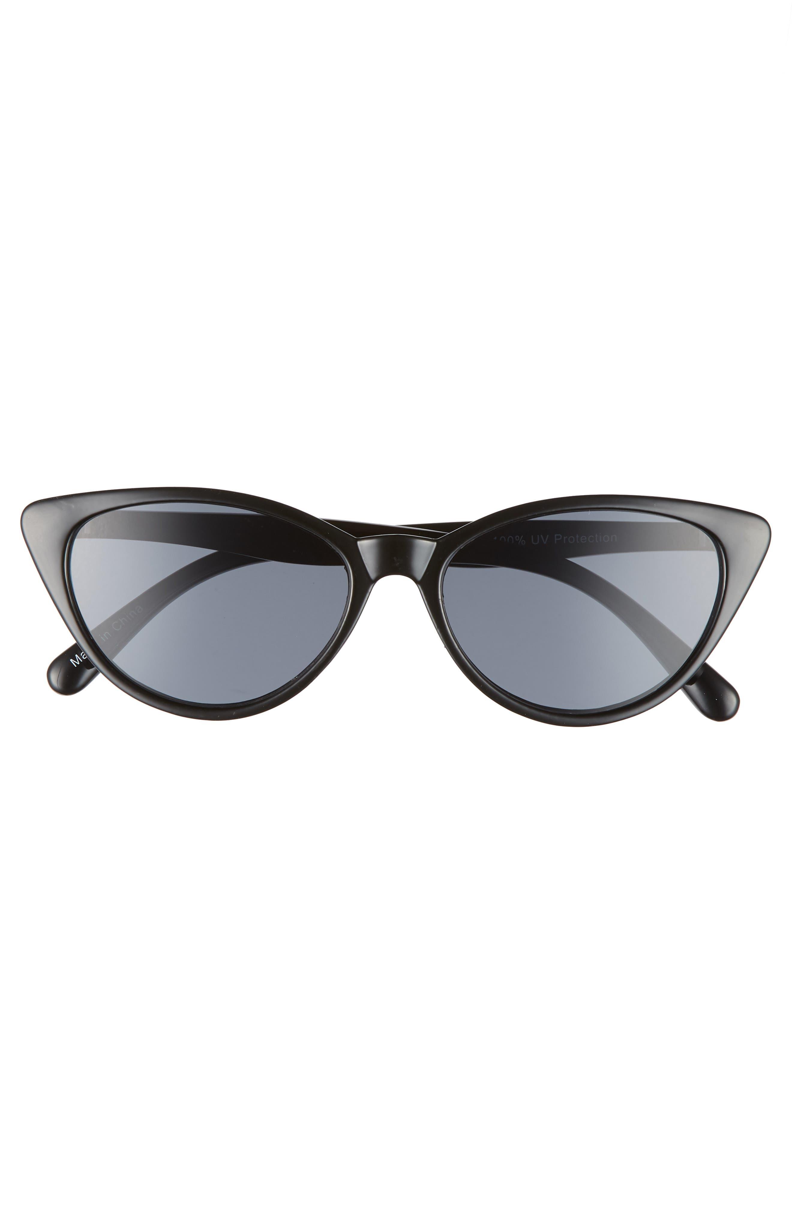 I Spy 53mm Exaggerated Cat Eye Sunglasses,                             Alternate thumbnail 3, color,                             001