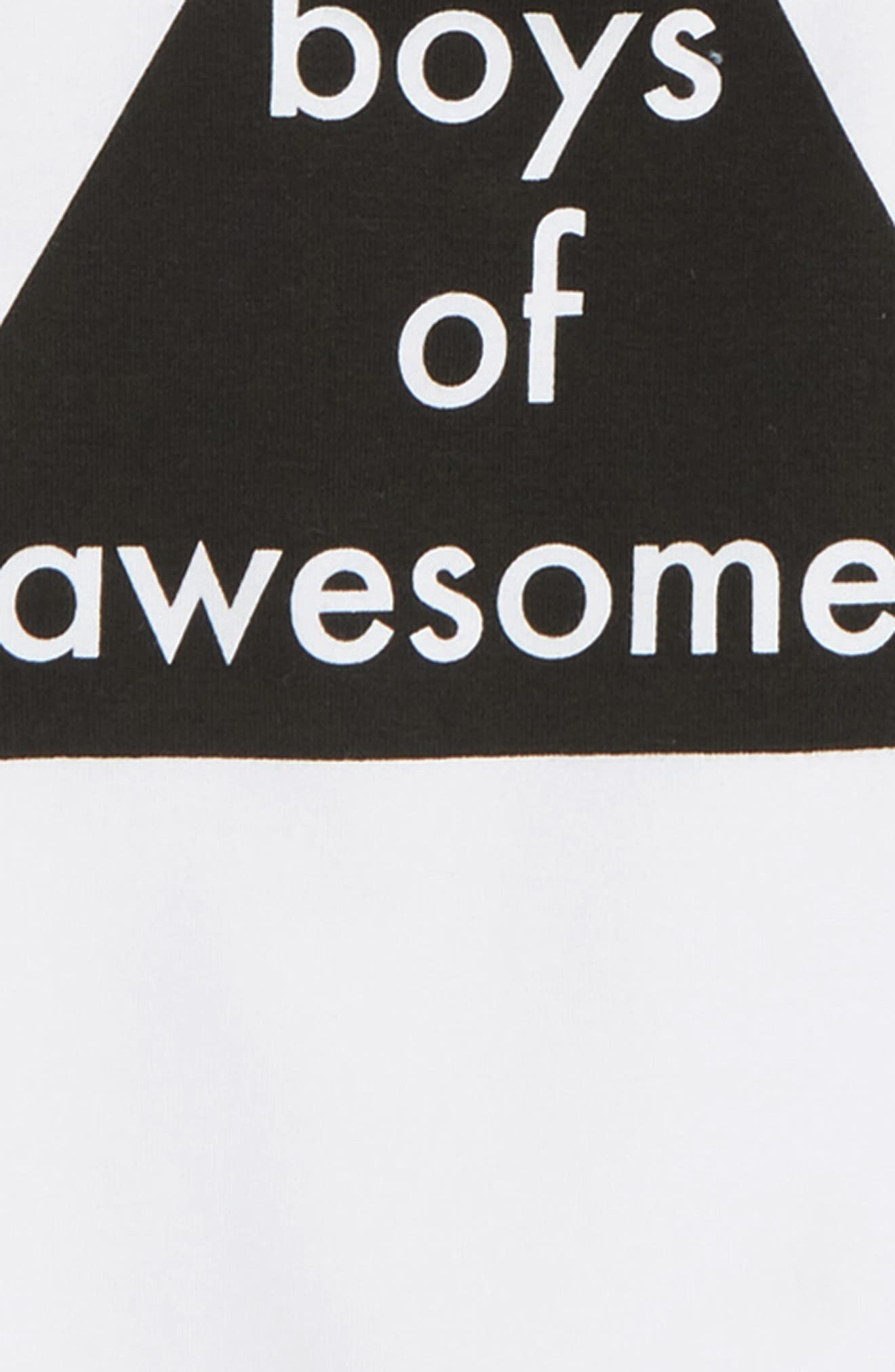 Boys of Awesome Long Sleeve T-Shirt,                             Alternate thumbnail 3, color,                             100