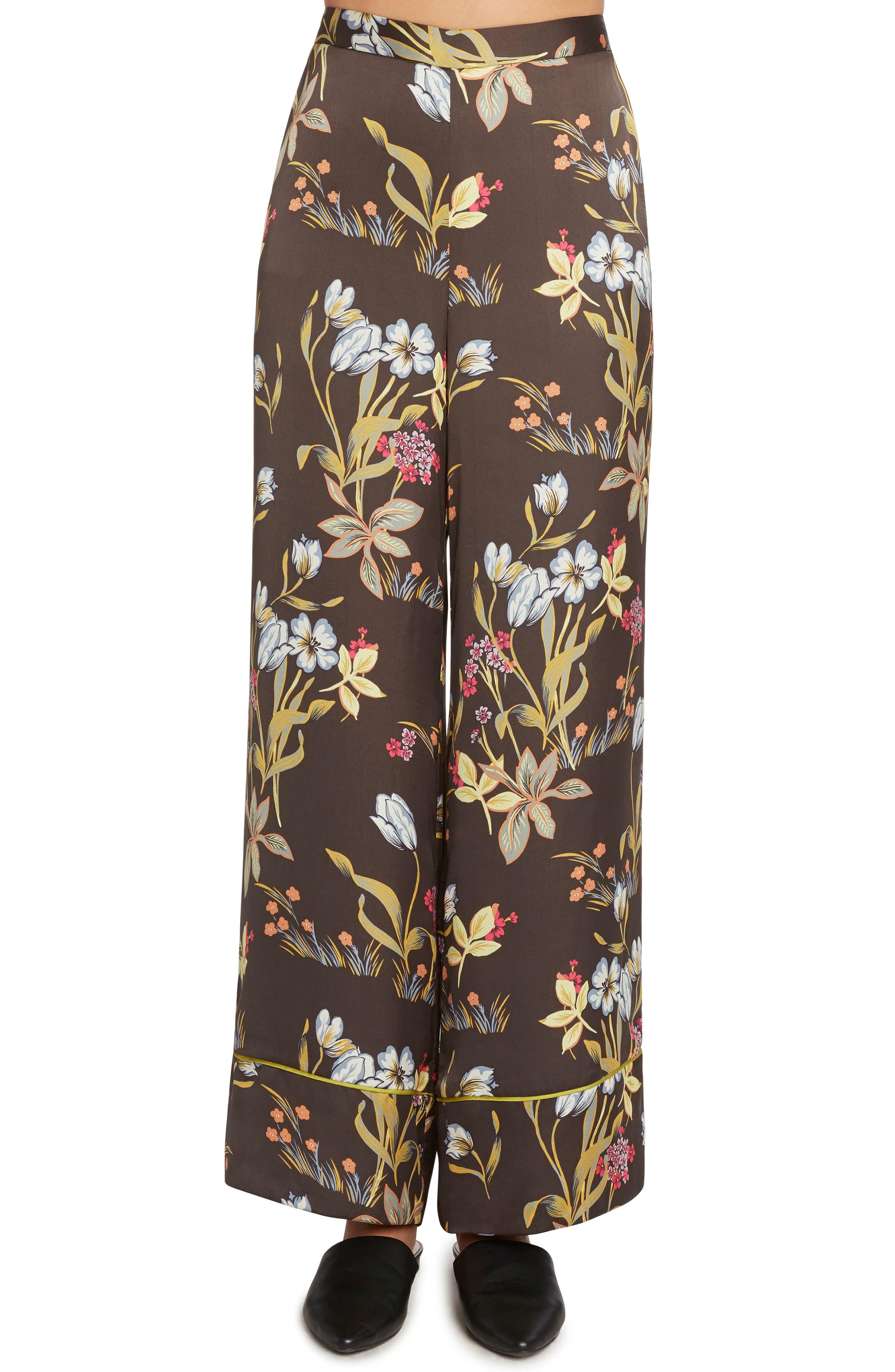 Print Wide Leg Pants,                         Main,                         color, 001