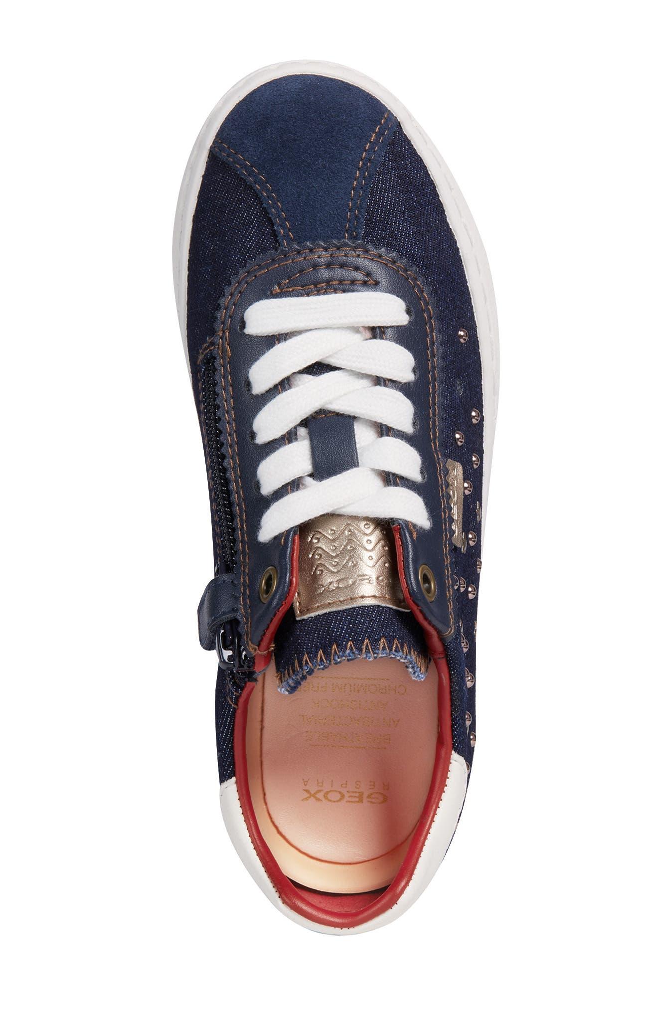 Kilwi Zip Low Top Sneaker,                             Alternate thumbnail 4, color,                             NAVY