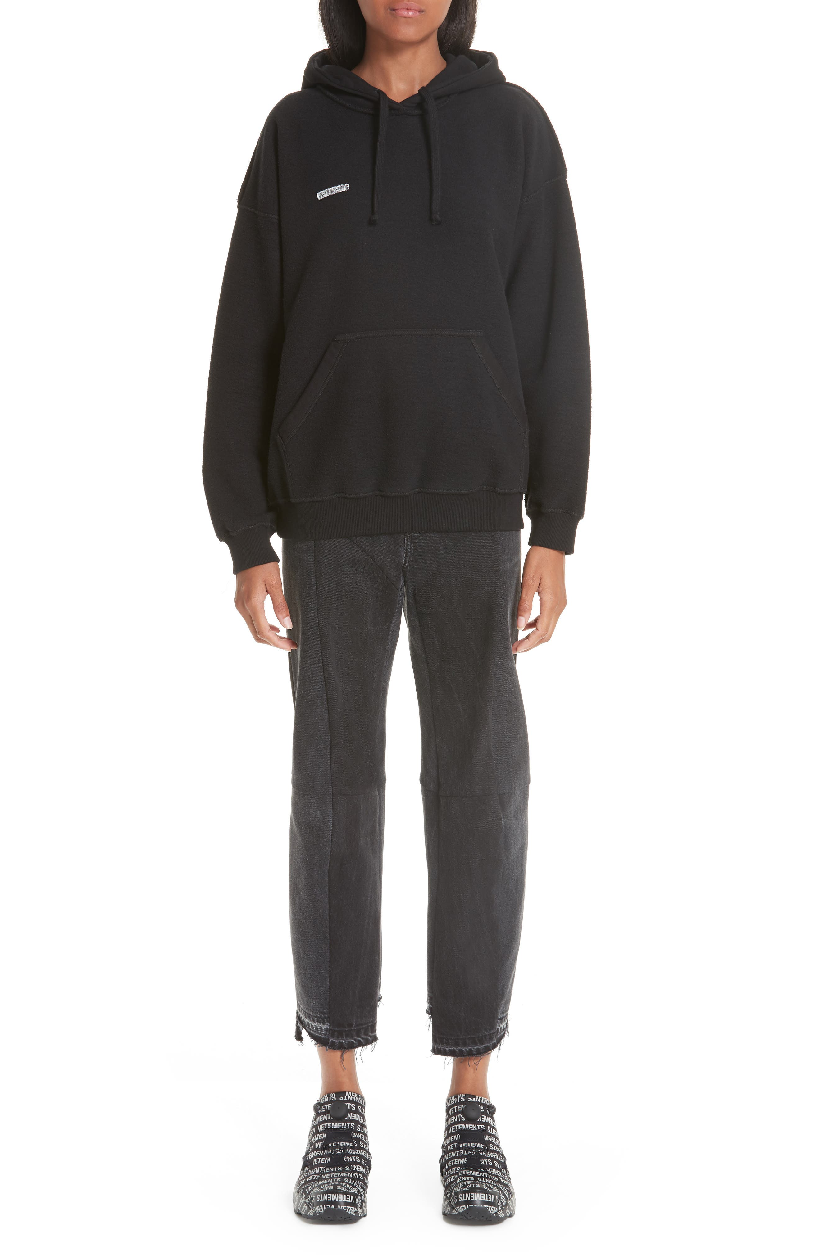 Inside-Out Hoodie,                             Alternate thumbnail 7, color,                             BLACK