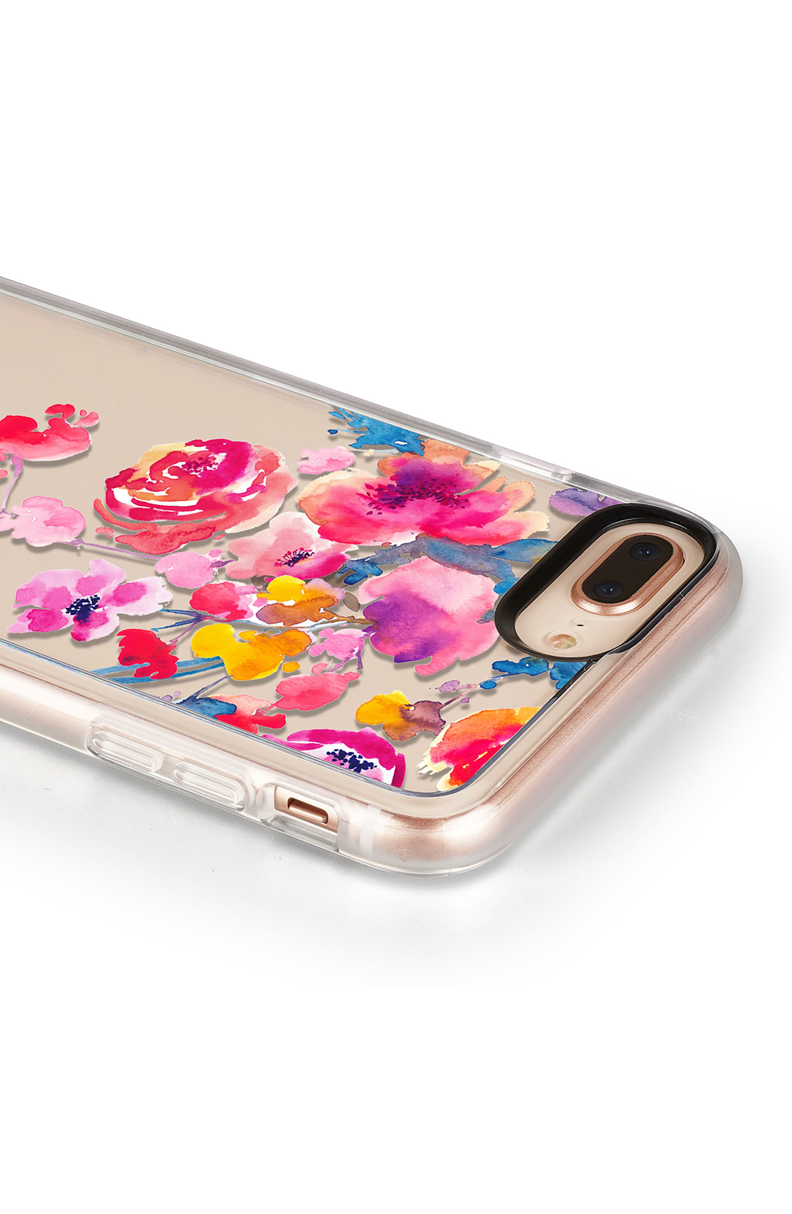 Watercolor Floral iPhone 7/8 & 7/8 Plus Case,                             Alternate thumbnail 5, color,                             PINK MULTI