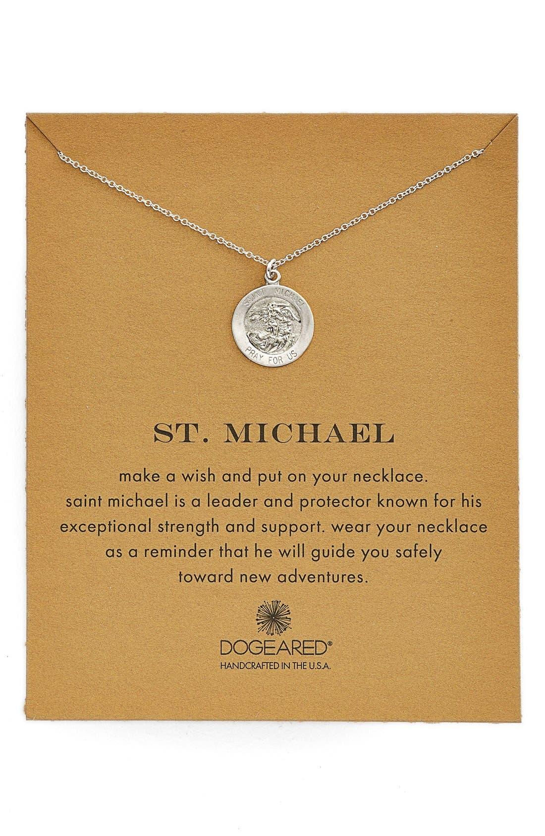 St. Michael Pendant Necklace, Main, color, 040