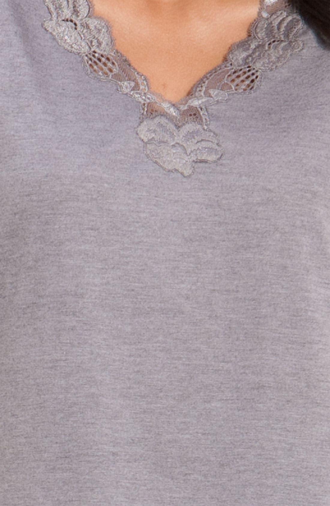 'Zen Floral' Pajamas,                             Alternate thumbnail 3, color,                             PASTEL GREY