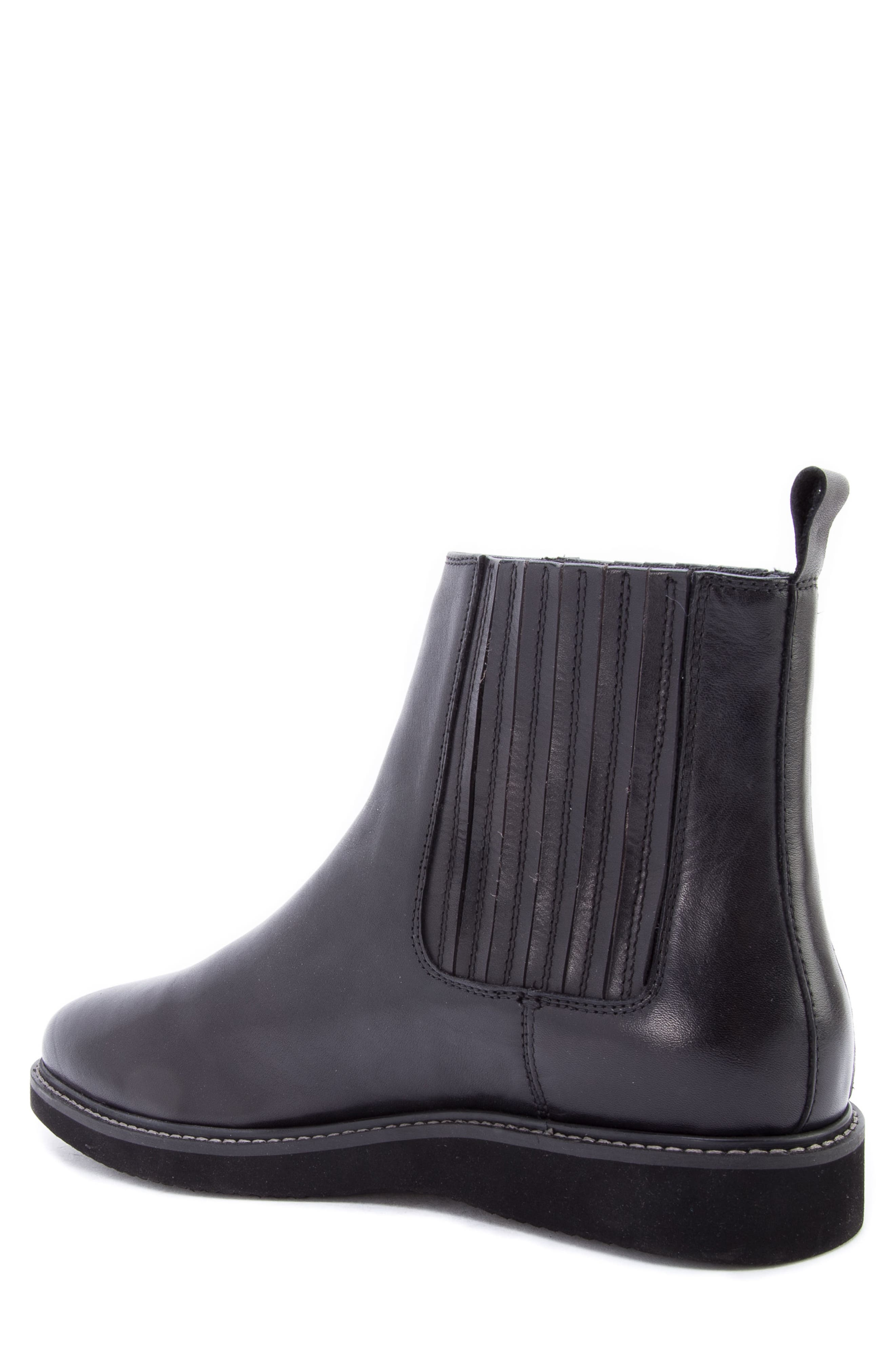 Warlow Chelsea Boot,                             Alternate thumbnail 2, color,                             BLACK LEATHER