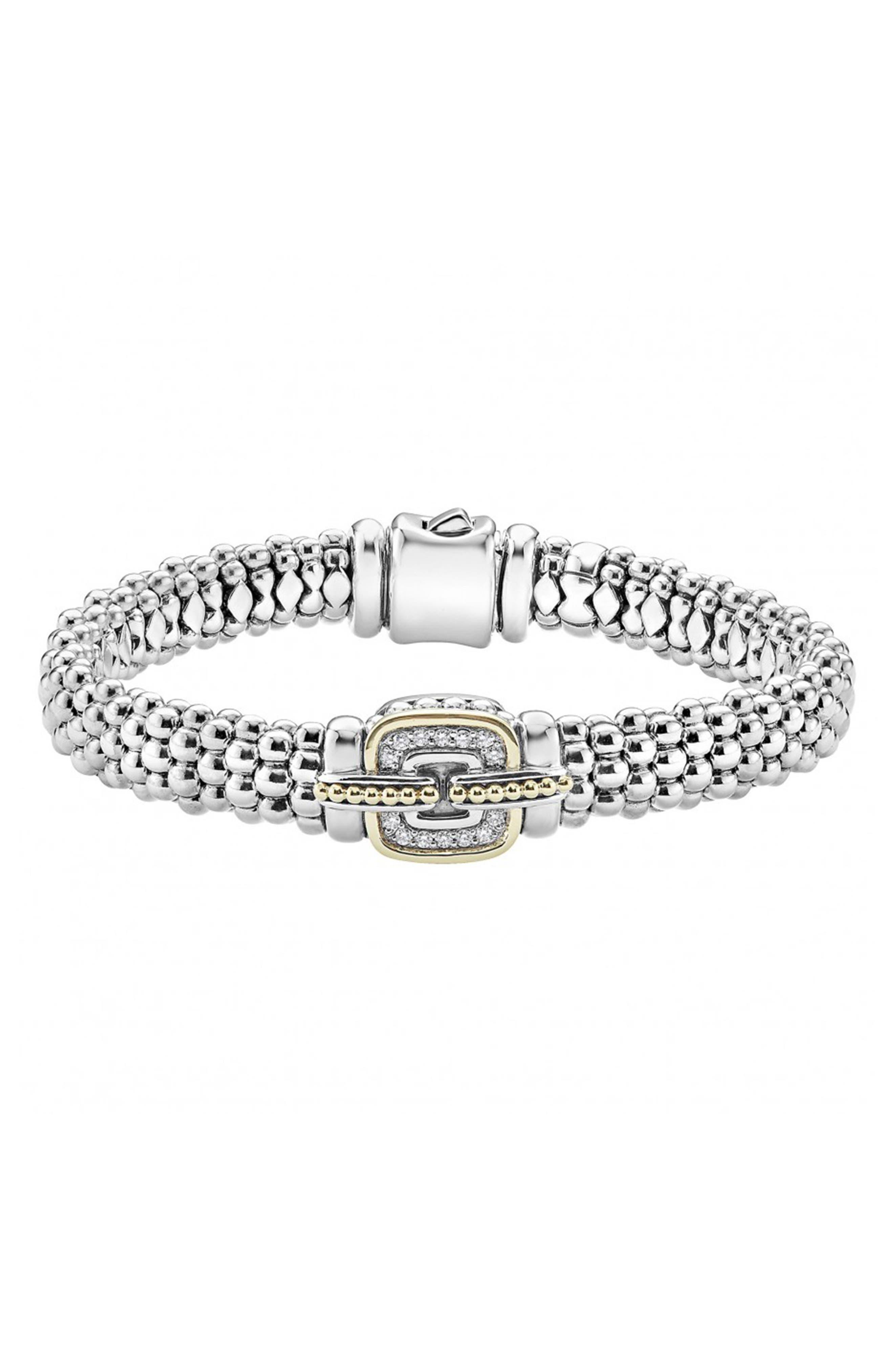 Cushion Caviar Bracelet,                             Main thumbnail 1, color,                             SILVER/ GOLD