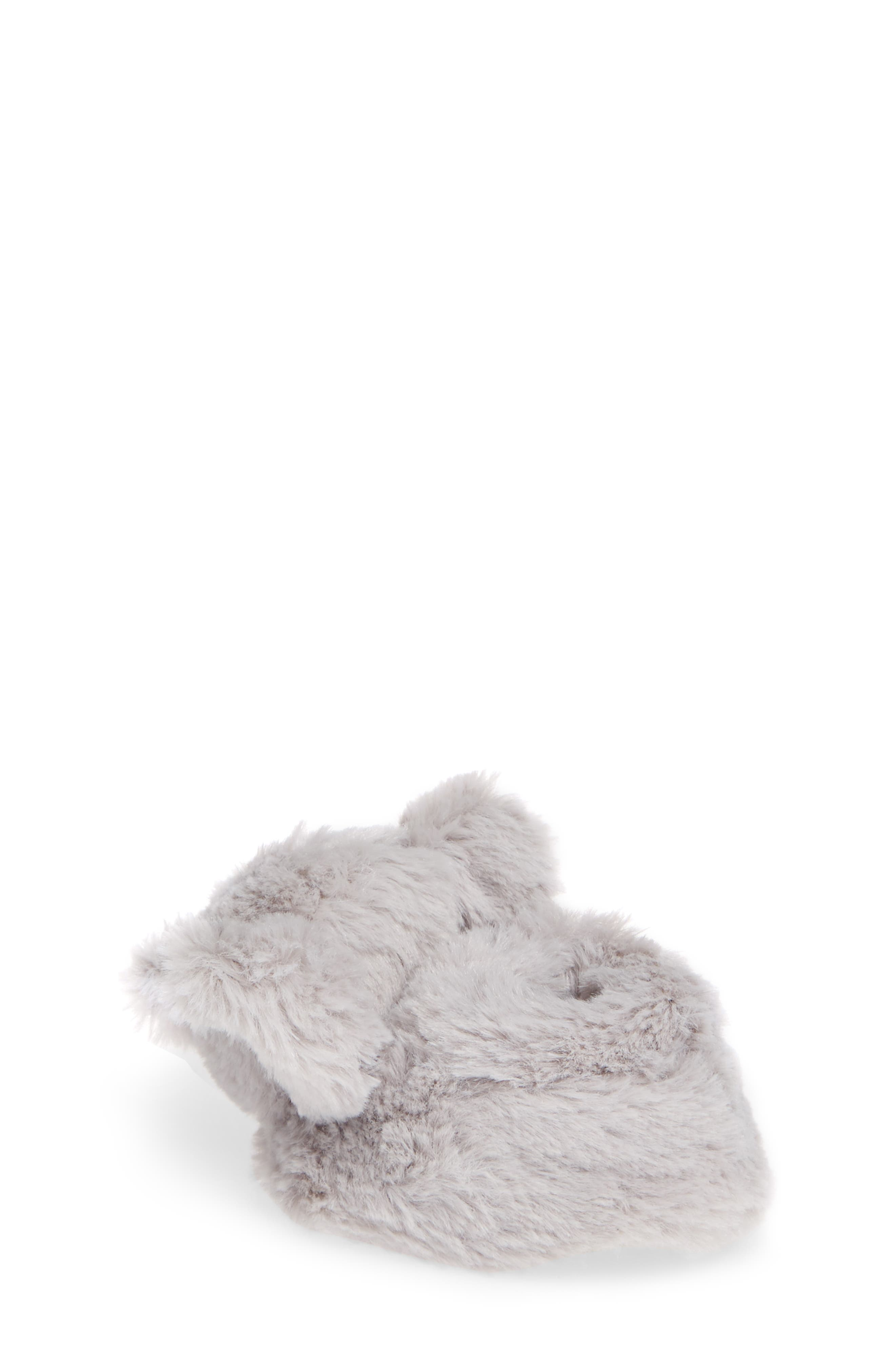 Faux Fur Animal Slipper,                             Alternate thumbnail 2, color,                             GREY ELEPHANT