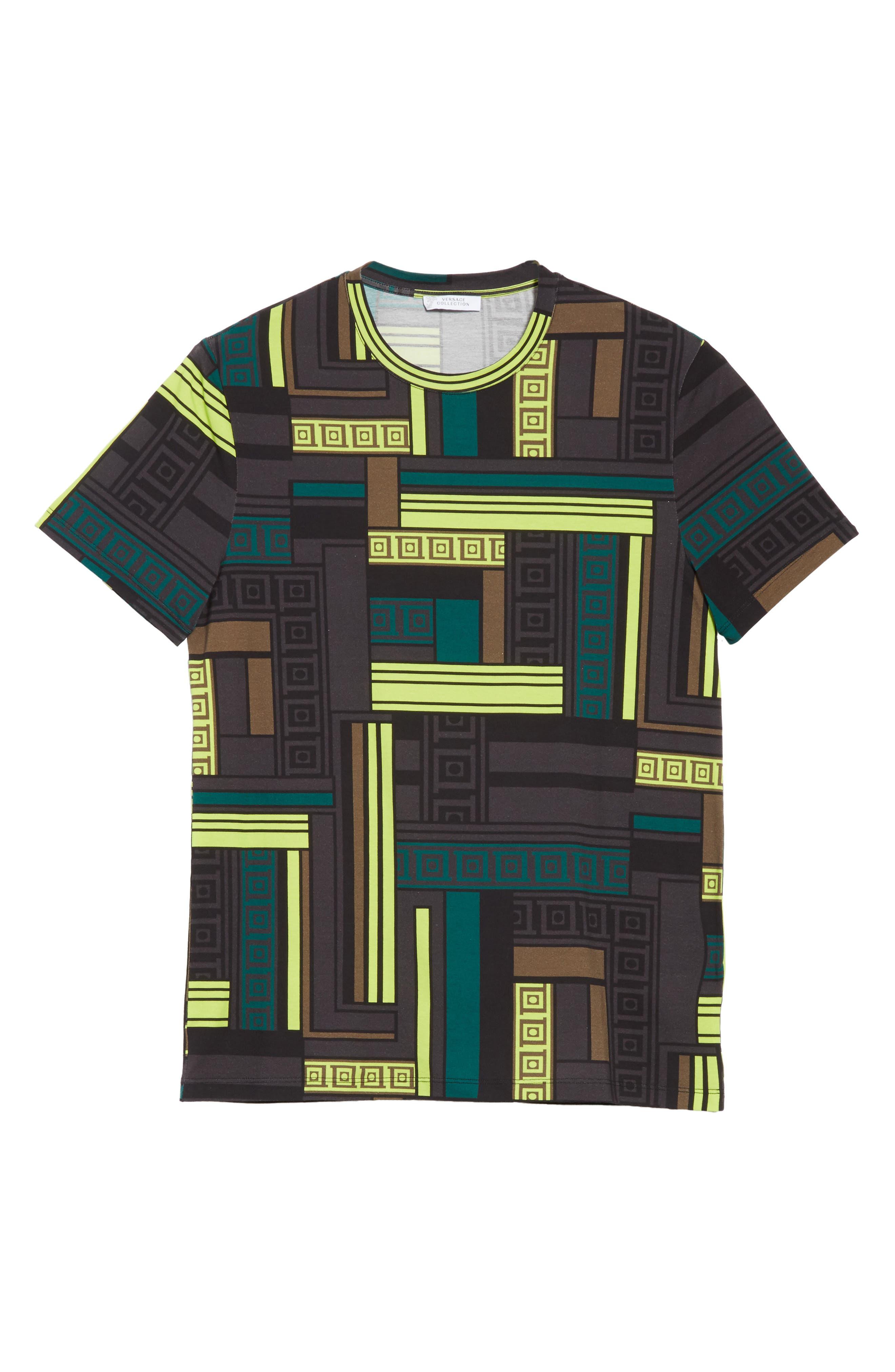 Allover Frame Print T-Shirt,                             Alternate thumbnail 6, color,                             333