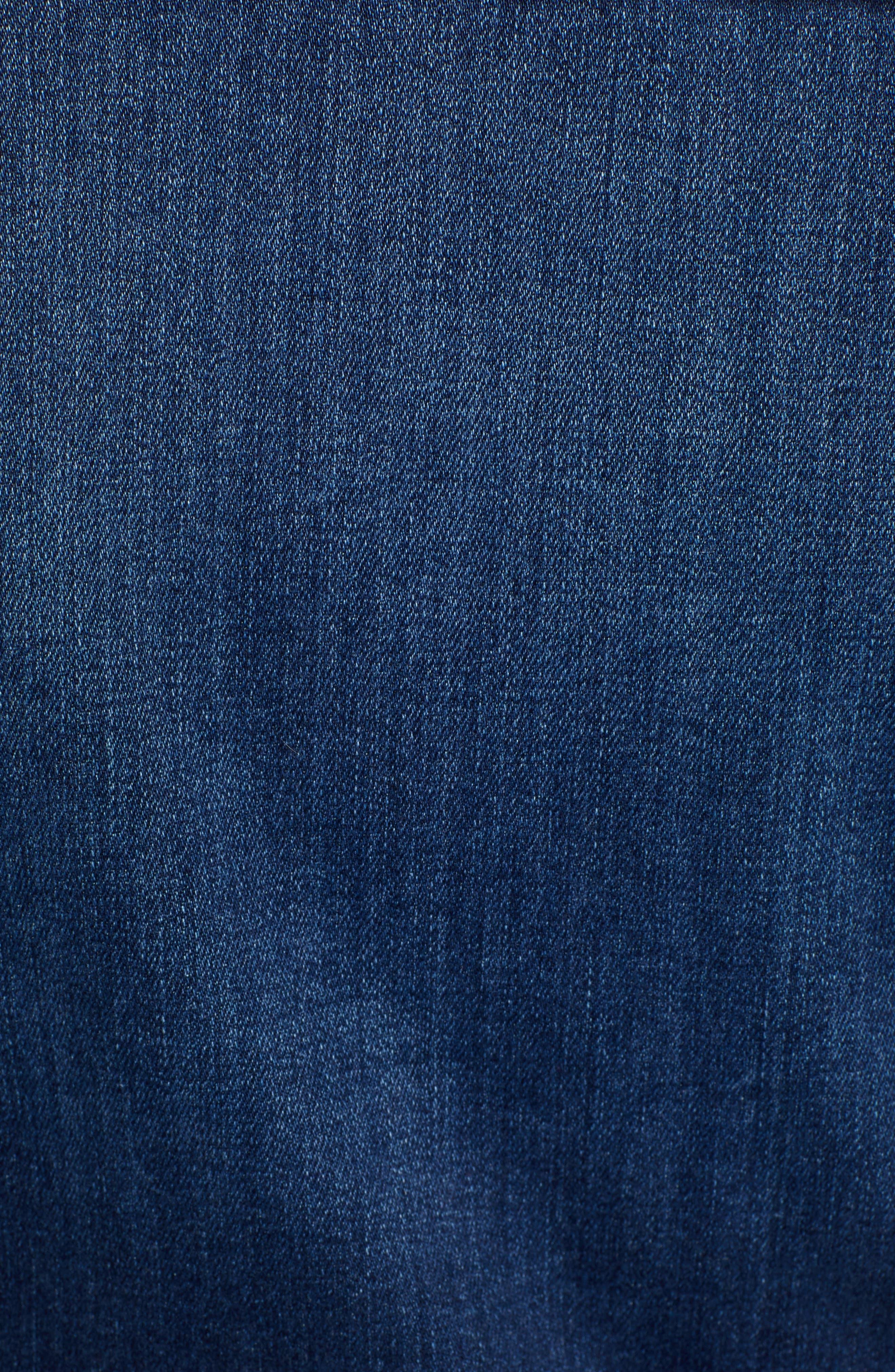 Robyn Crop Denim Jacket,                             Alternate thumbnail 7, color,                             PINNACLE BLUE