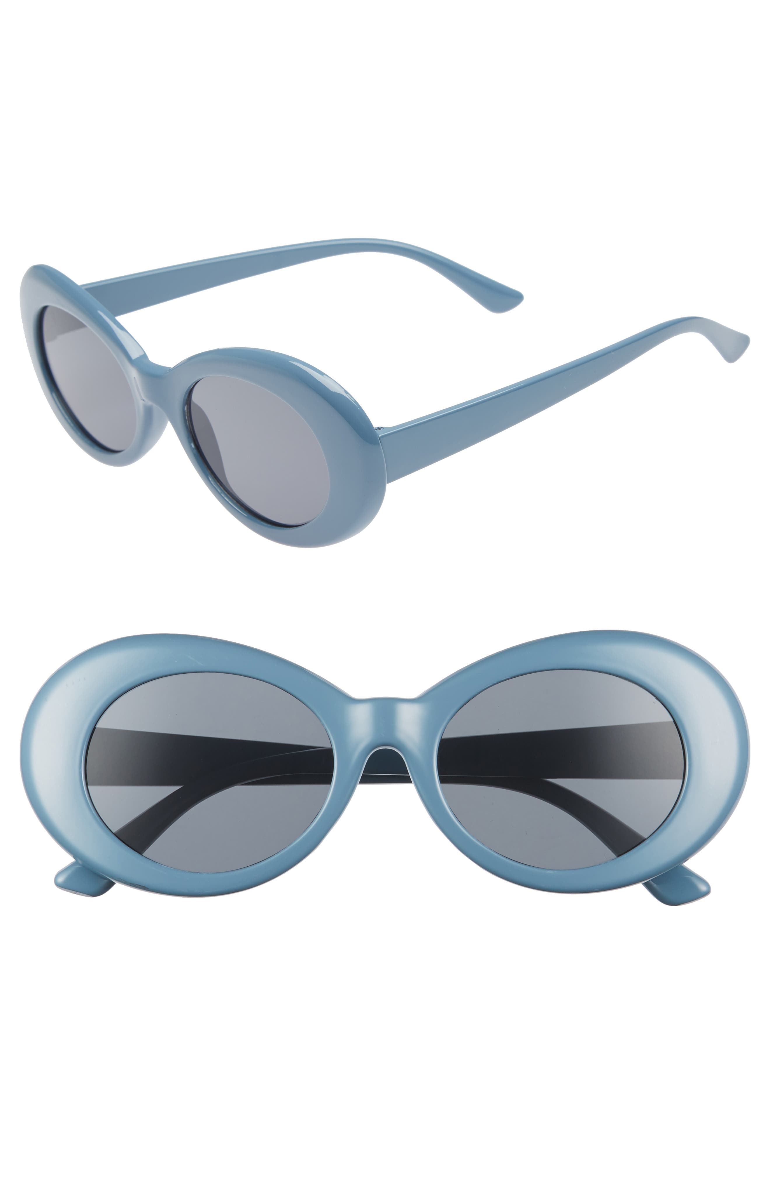 50mm Round Sunglasses,                         Main,                         color, MARINE BLUE