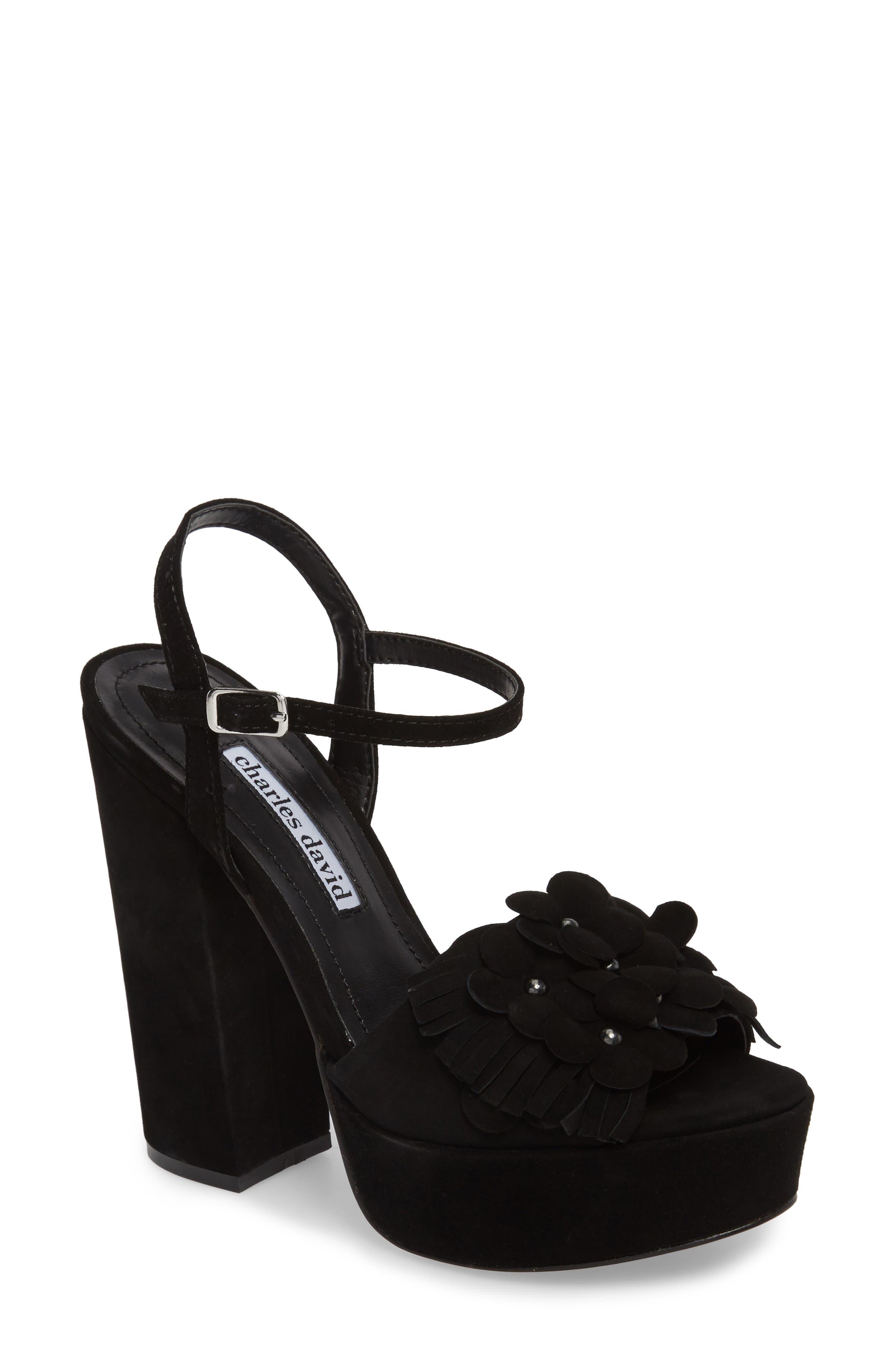Royale Sandal,                             Main thumbnail 1, color,                             BLACK SUEDE
