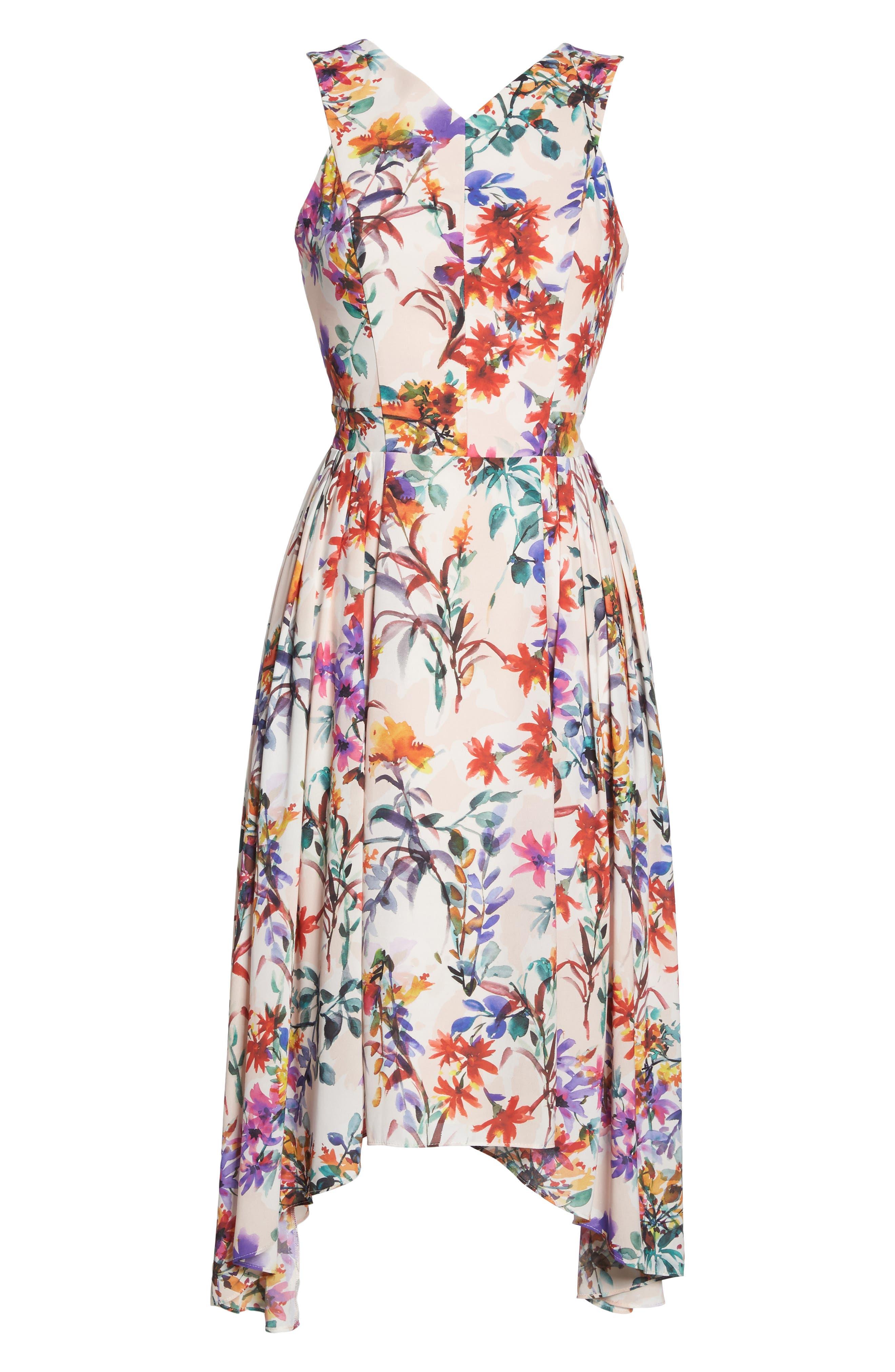 Vanessa Midi Dress,                             Alternate thumbnail 6, color,                             680