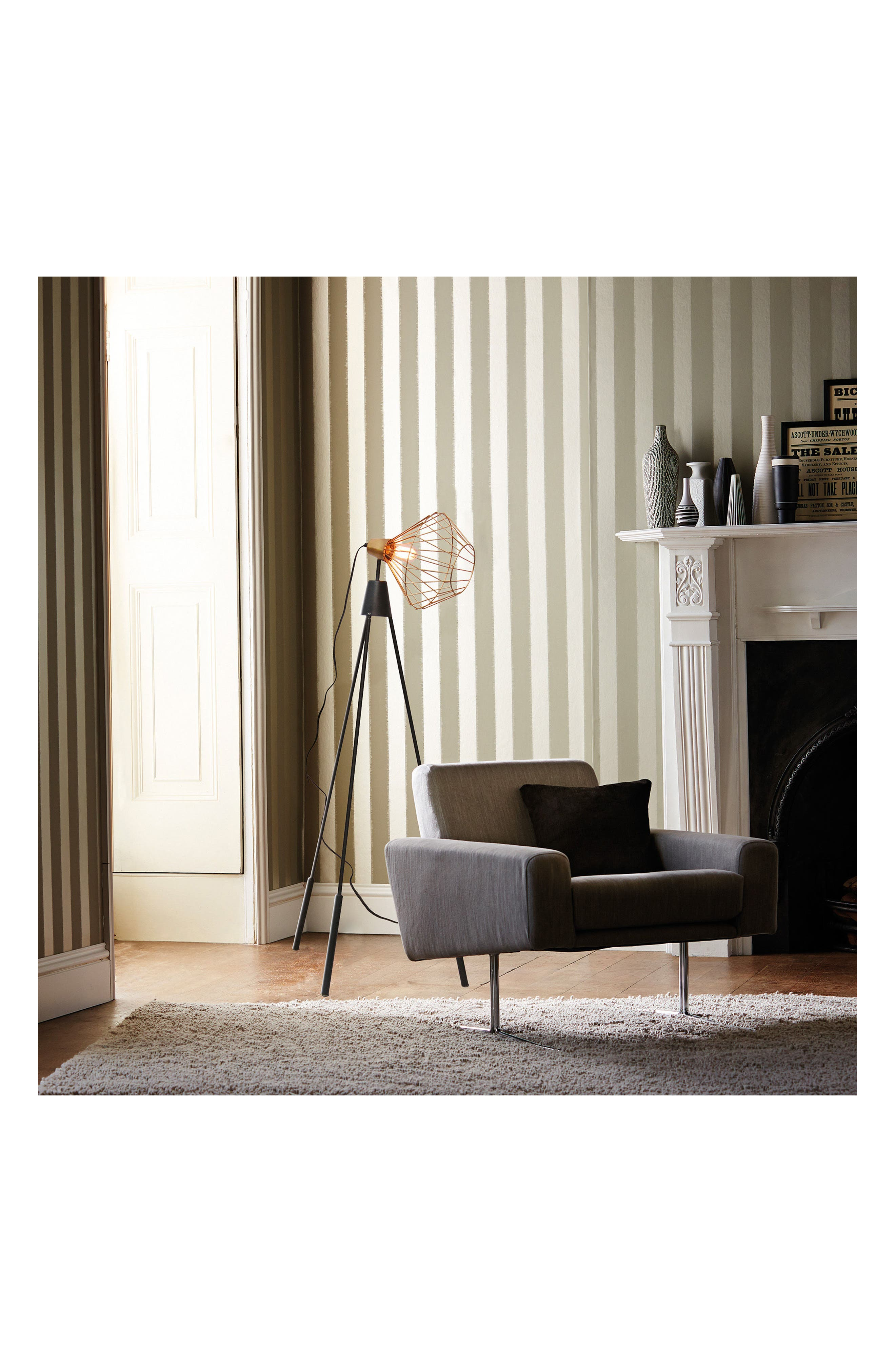 Elington Floor Lamp,                             Alternate thumbnail 3, color,                             BRASS/ BLACK