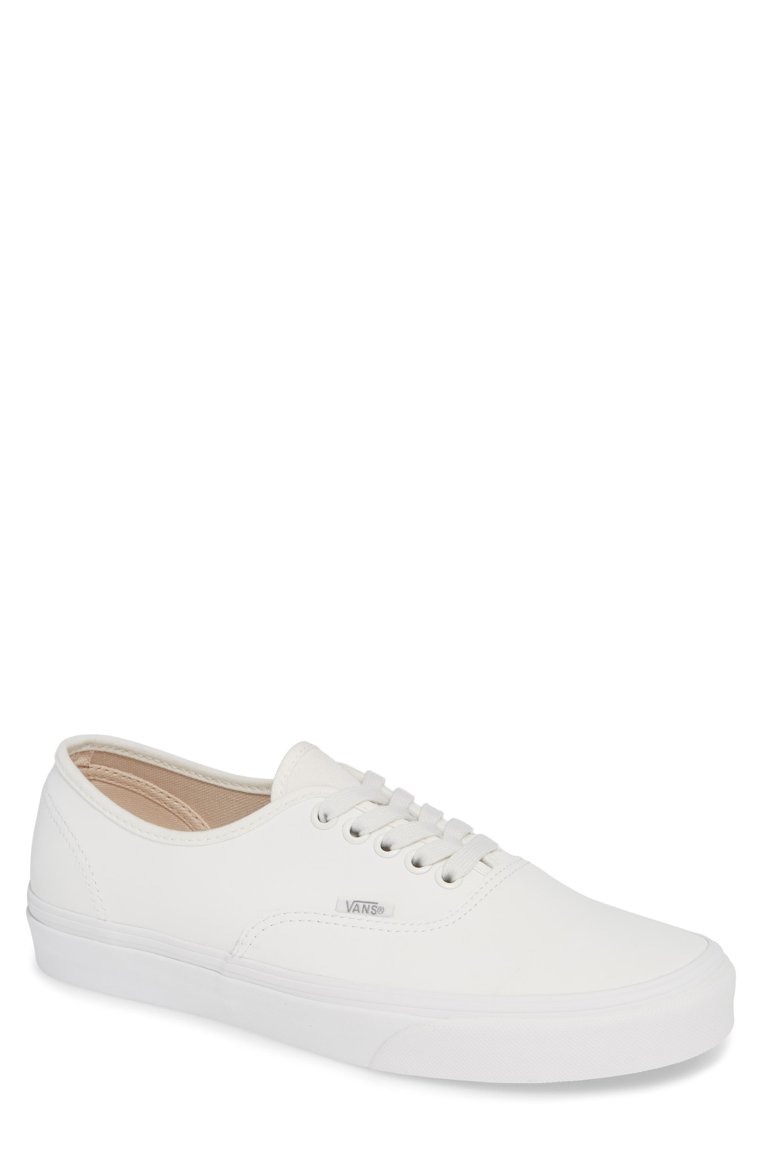 Authentic Buck Sneaker,                         Main,                         color, WHITE