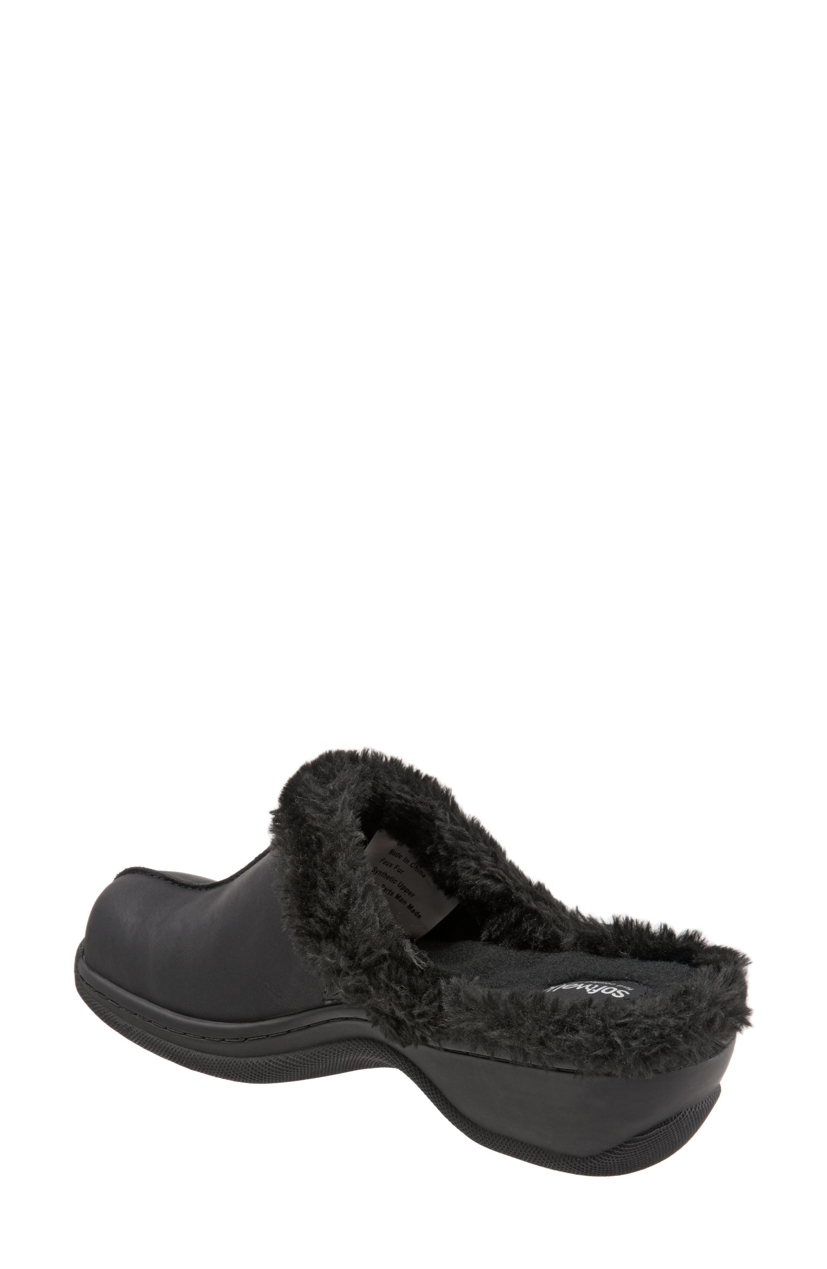 Abigail Clog with Faux Shearling Trim,                             Alternate thumbnail 2, color,                             004