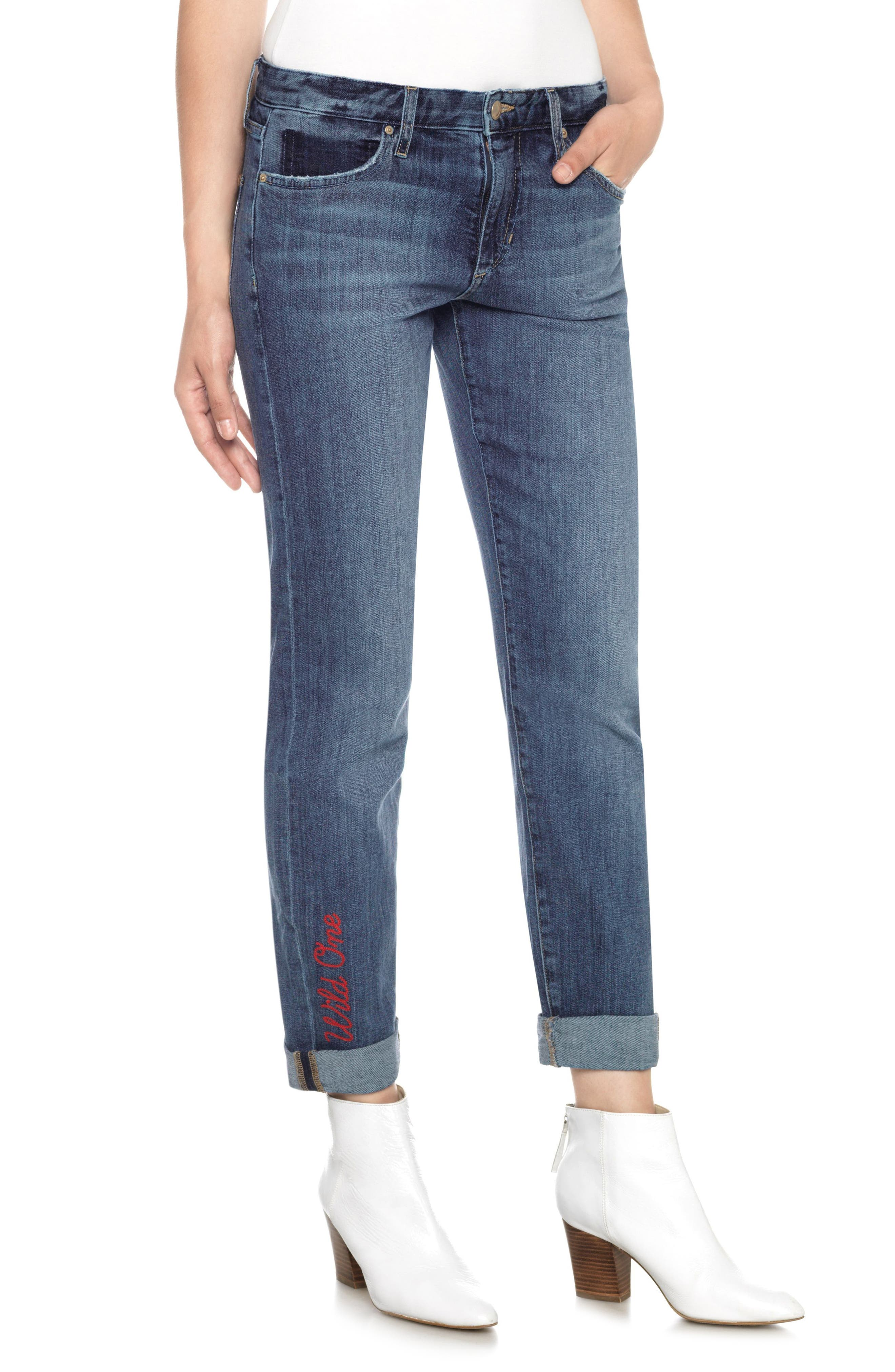 The Smith Wild One Ankle Jeans,                             Main thumbnail 1, color,
