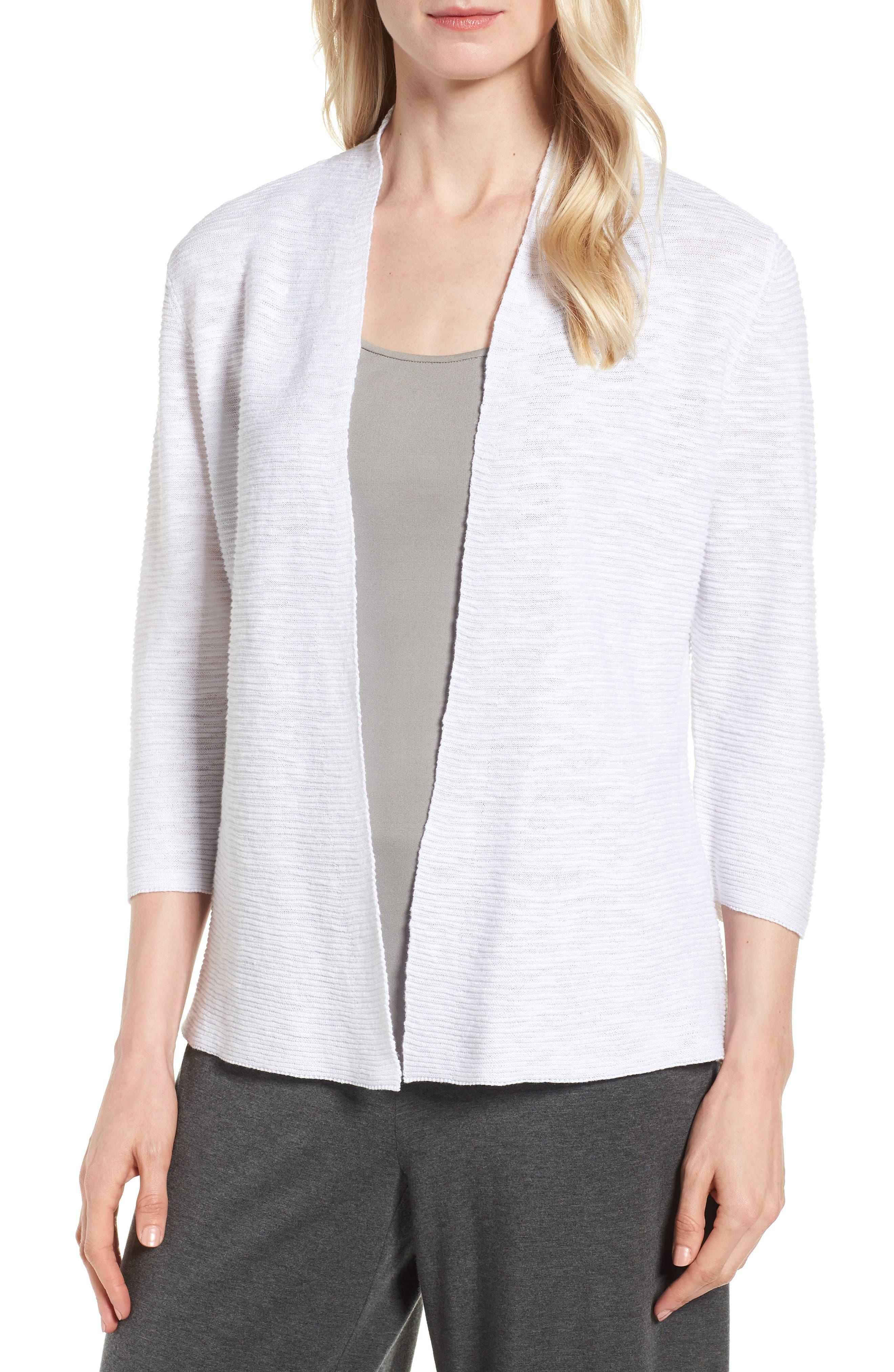 Simple Organic Linen & Cotton Cardigan,                             Main thumbnail 1, color,