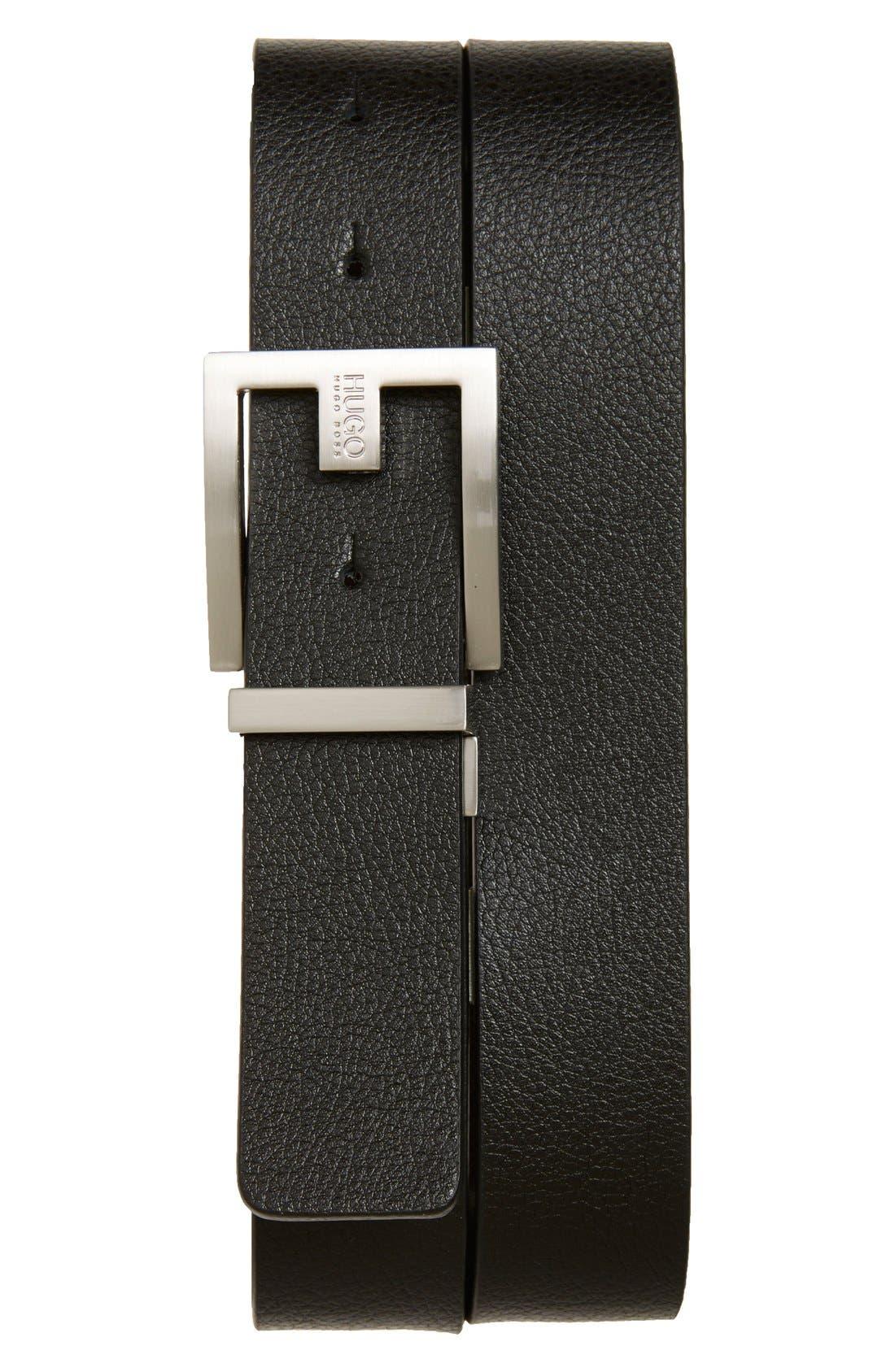 Fleming Reversible Leather Belt,                             Main thumbnail 1, color,