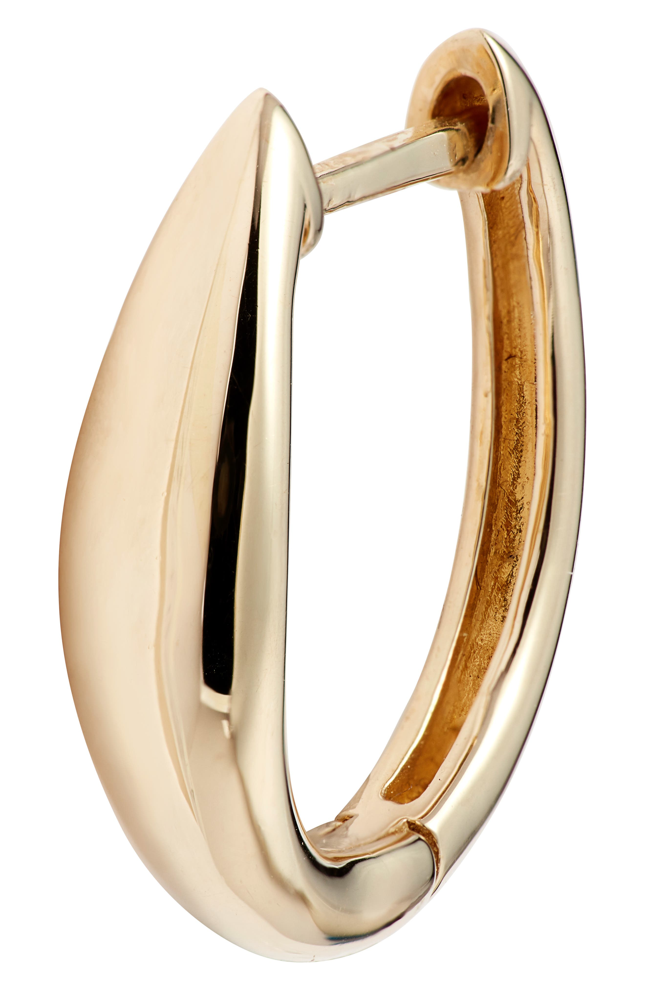 BONY LEVY,                             14K Gold Hoop Earrings,                             Alternate thumbnail 5, color,                             YELLOW GOLD/ DIA
