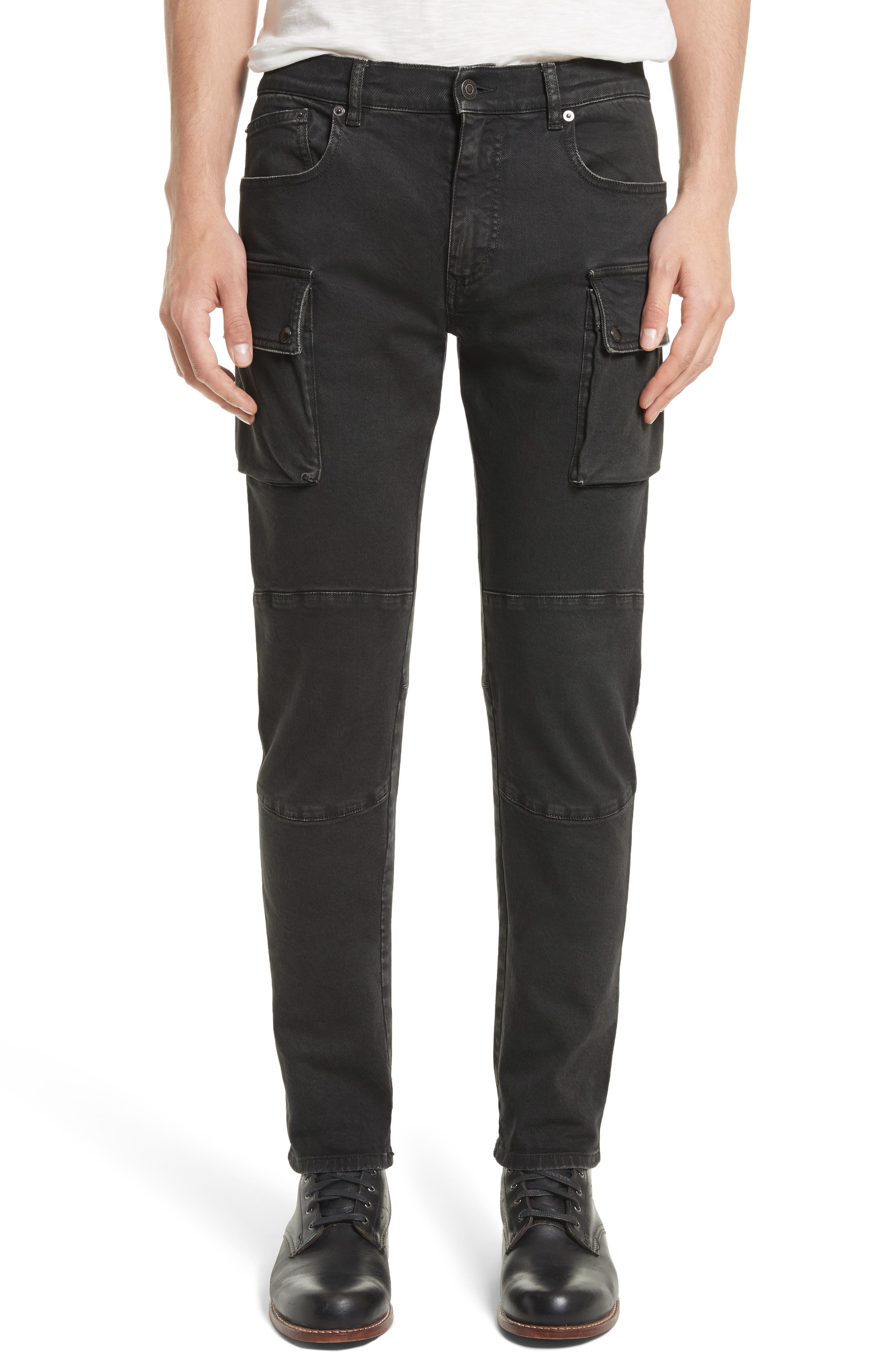 Westward Tapered Fit Cargo Jeans,                             Main thumbnail 1, color,                             001