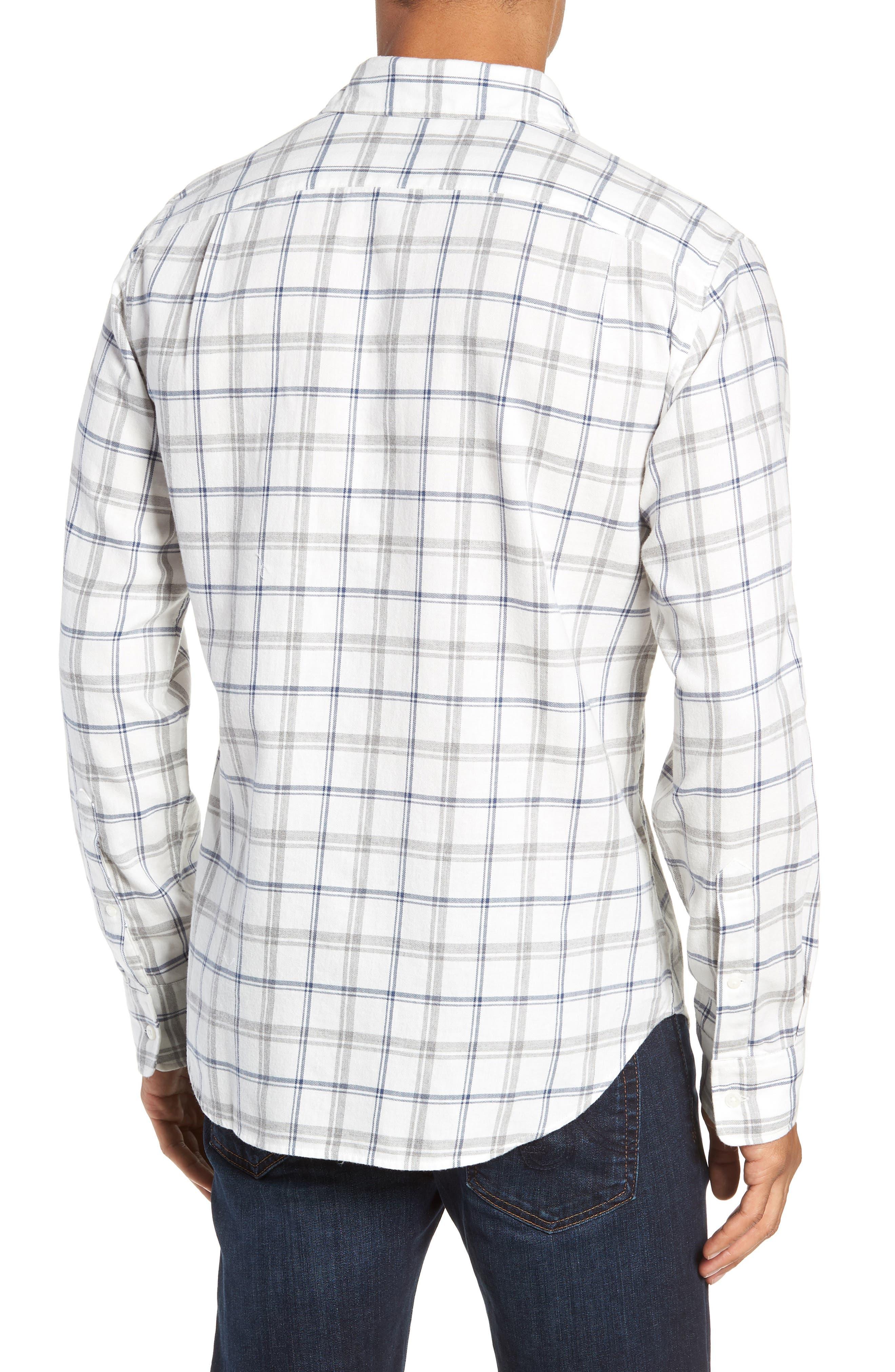 Slim Fit Brushed Twill Sport Shirt,                             Alternate thumbnail 3, color,                             400