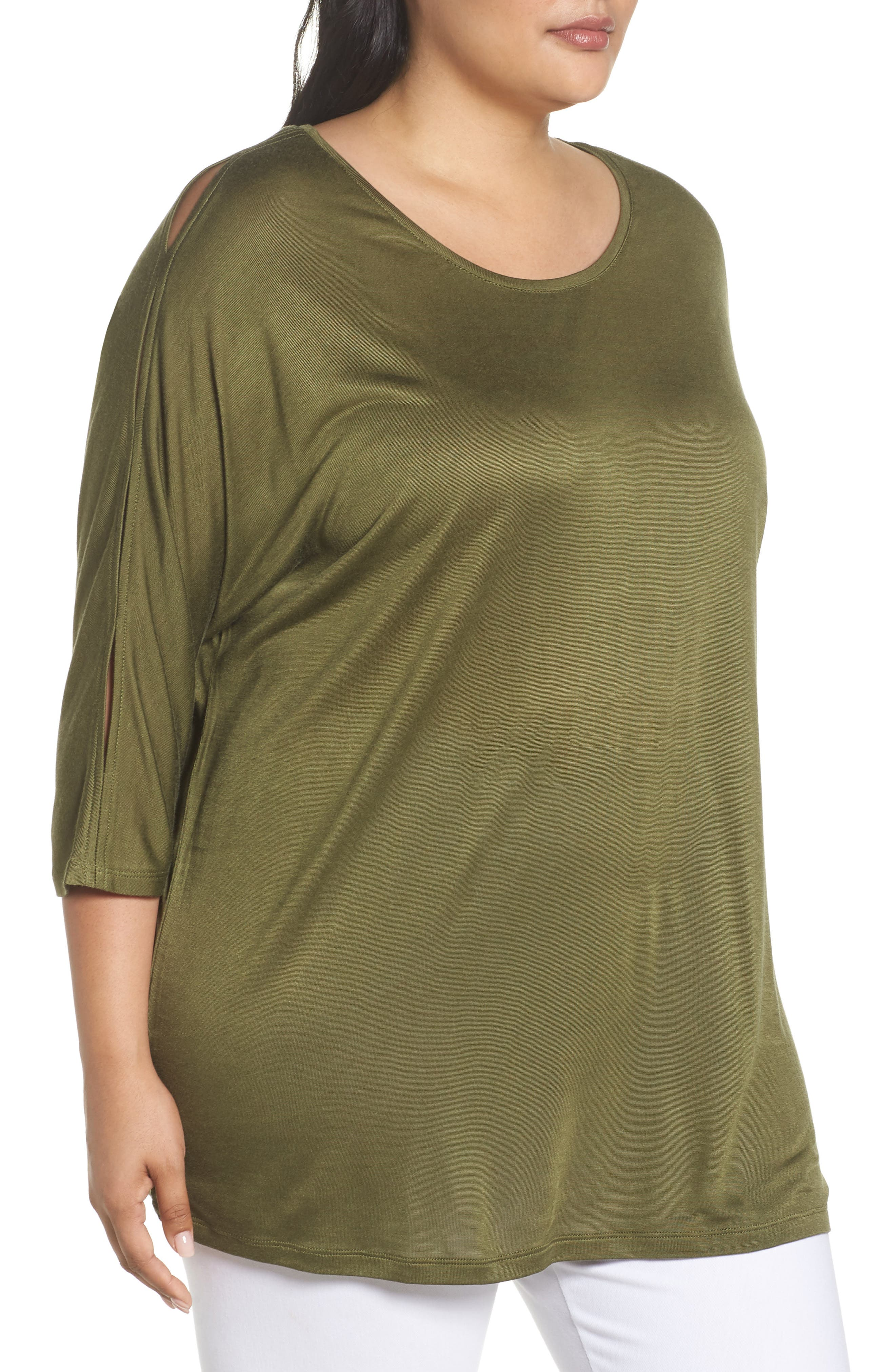Slit Sleeve Top,                             Alternate thumbnail 13, color,