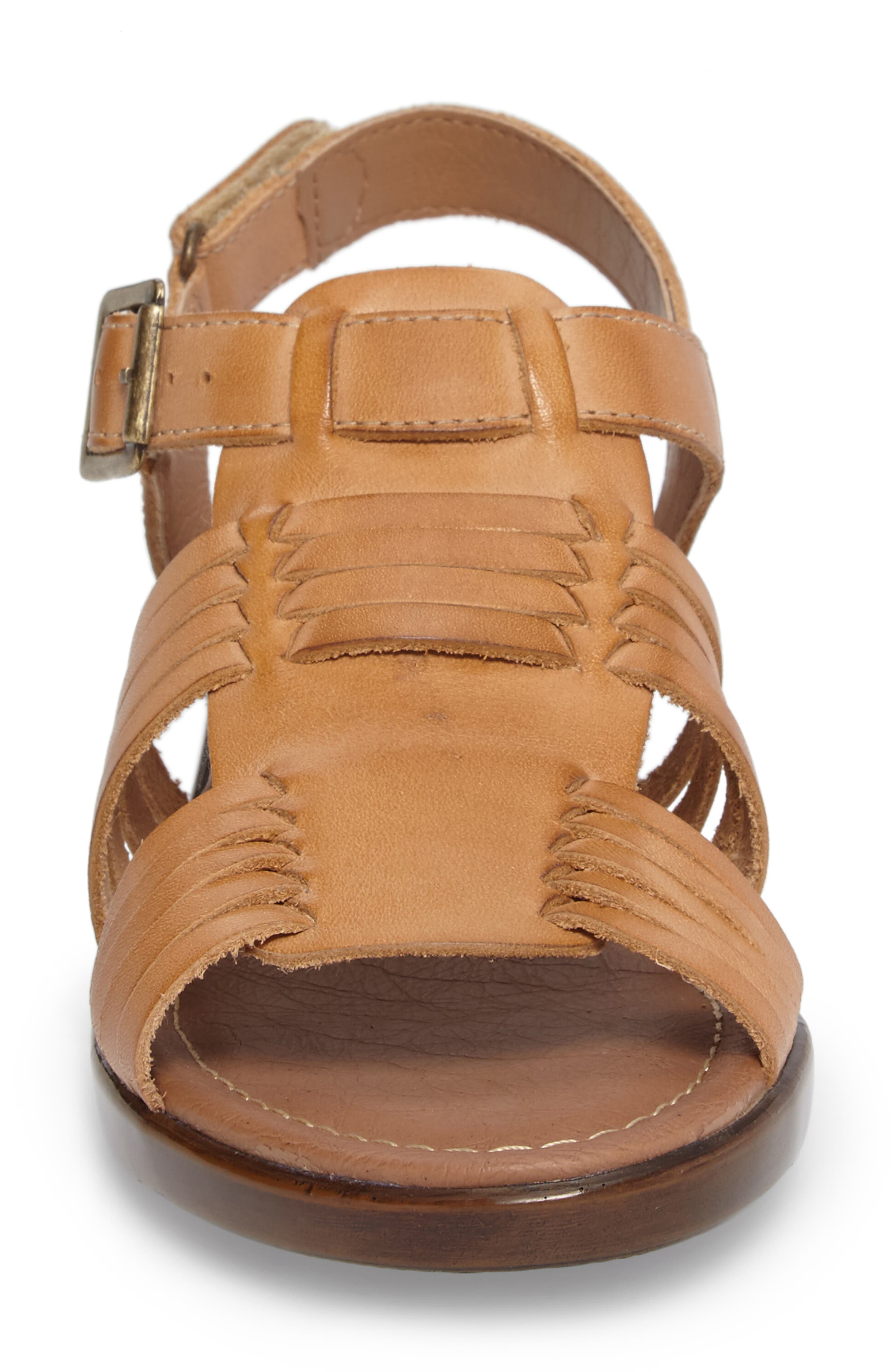 Freeport Sandal,                             Alternate thumbnail 4, color,                             NATURAL LEATHER