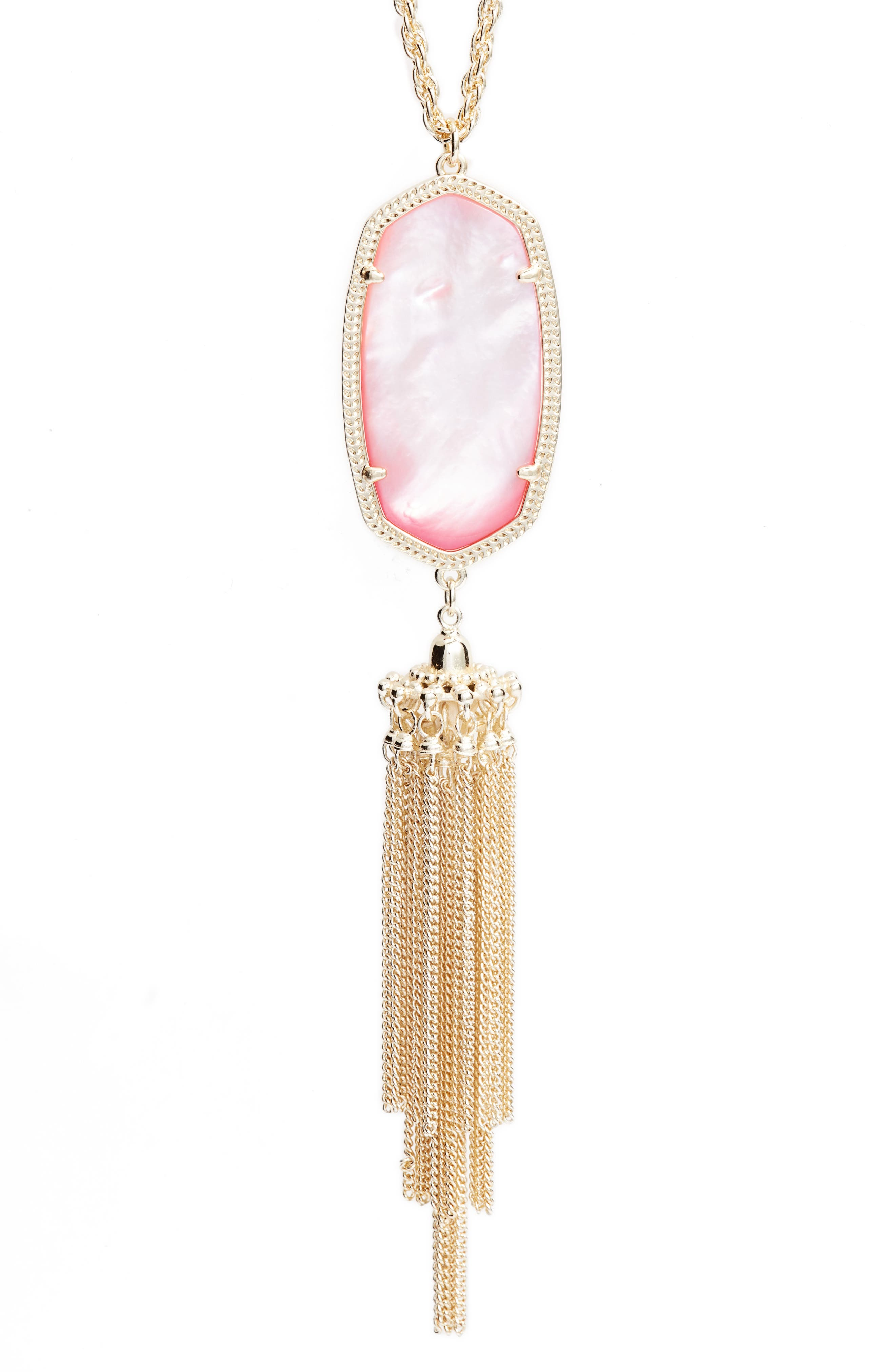 Rayne Stone Tassel Pendant Necklace,                             Alternate thumbnail 99, color,