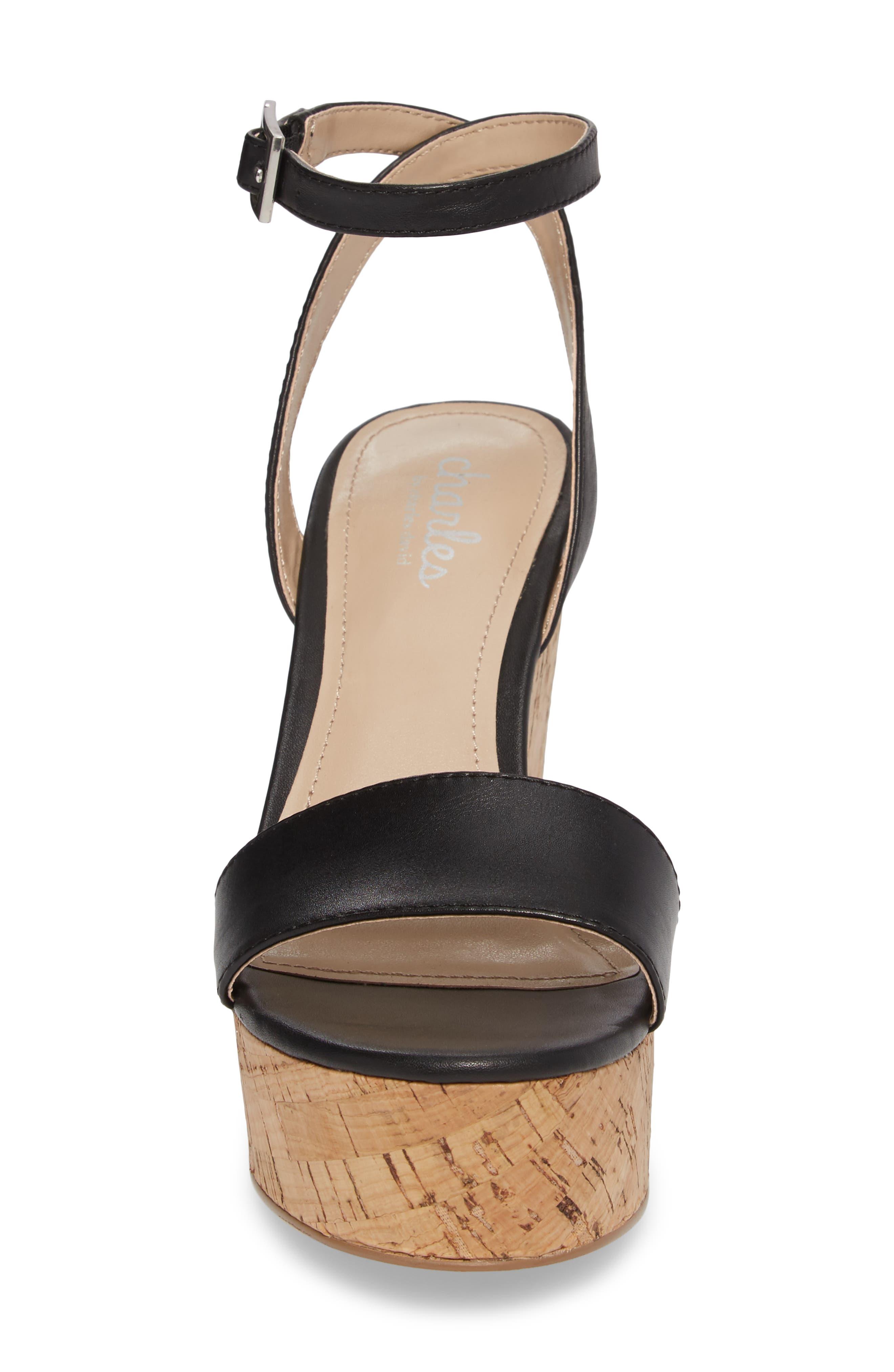 Lilla Platform Wedge Sandal,                             Alternate thumbnail 4, color,                             001