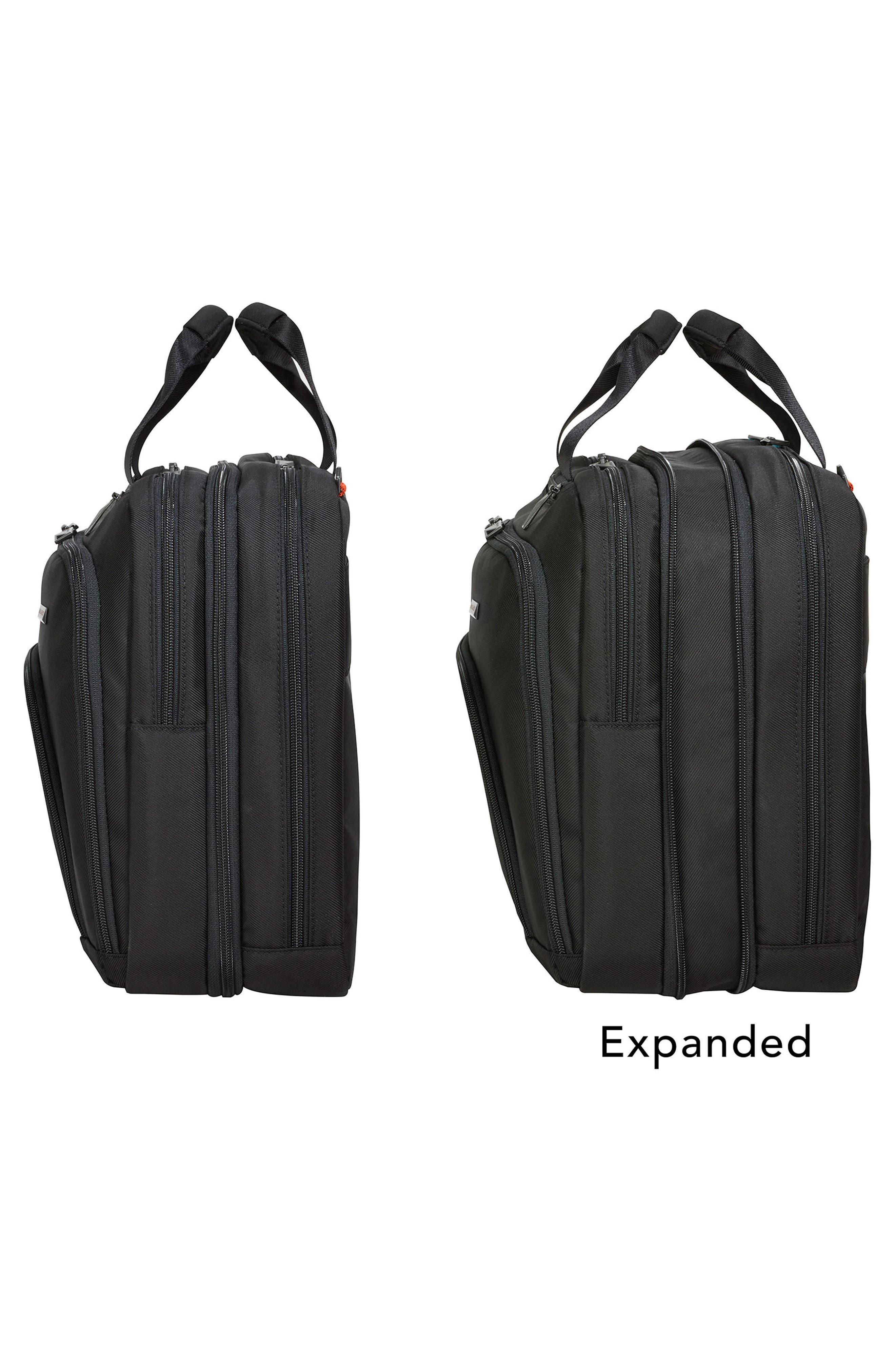 Verb - Adapt Expandable Briefcase,                             Alternate thumbnail 2, color,                             BLACK