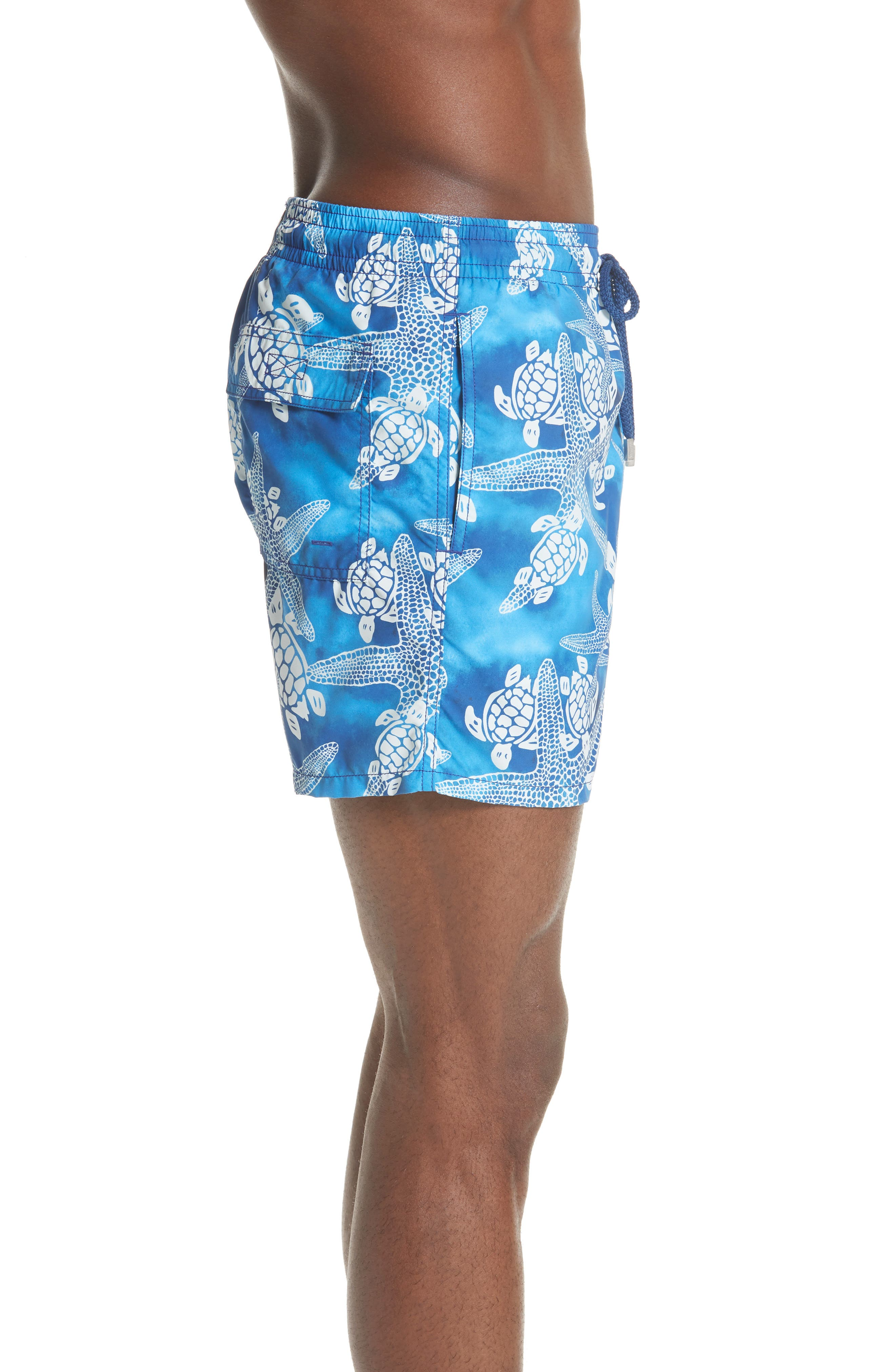 Starfish & Turtles Swim Trunks,                             Alternate thumbnail 3, color,                             NEPTUNE