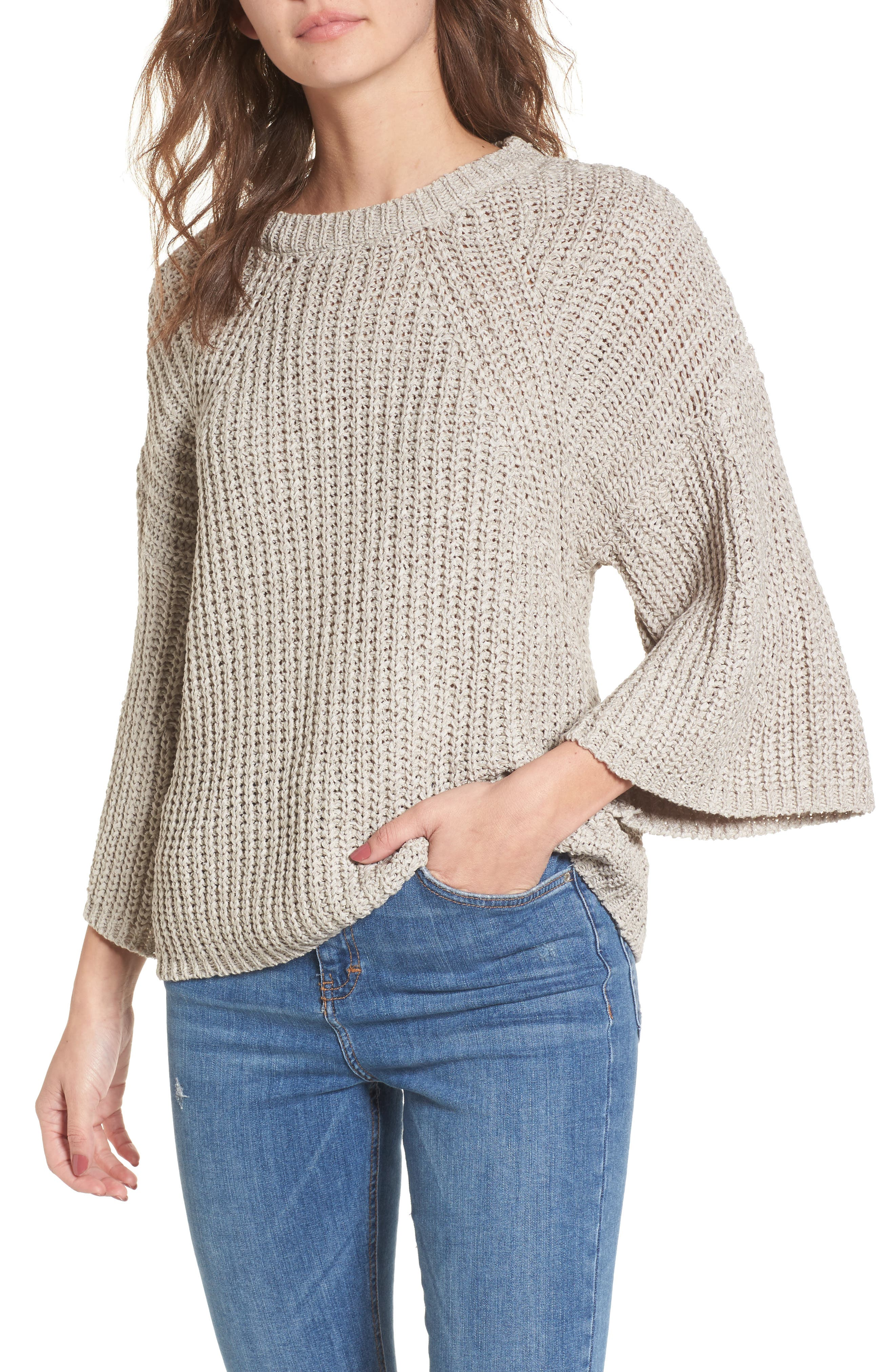 Bell Sleeve Sweater,                             Main thumbnail 1, color,                             280
