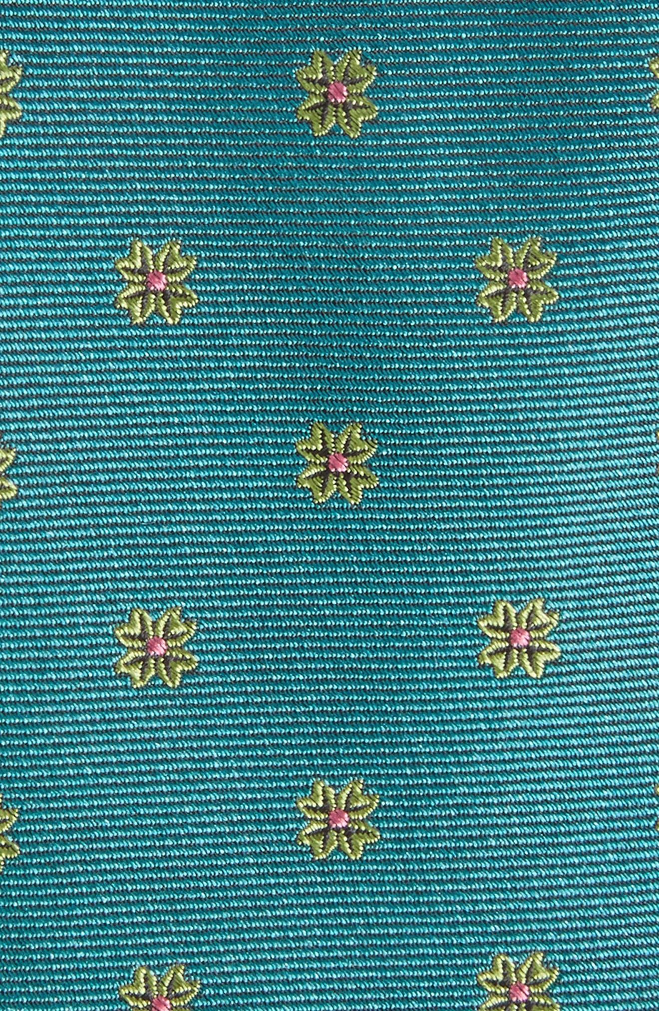 Floral Span Medallion Silk Tie,                             Alternate thumbnail 7, color,