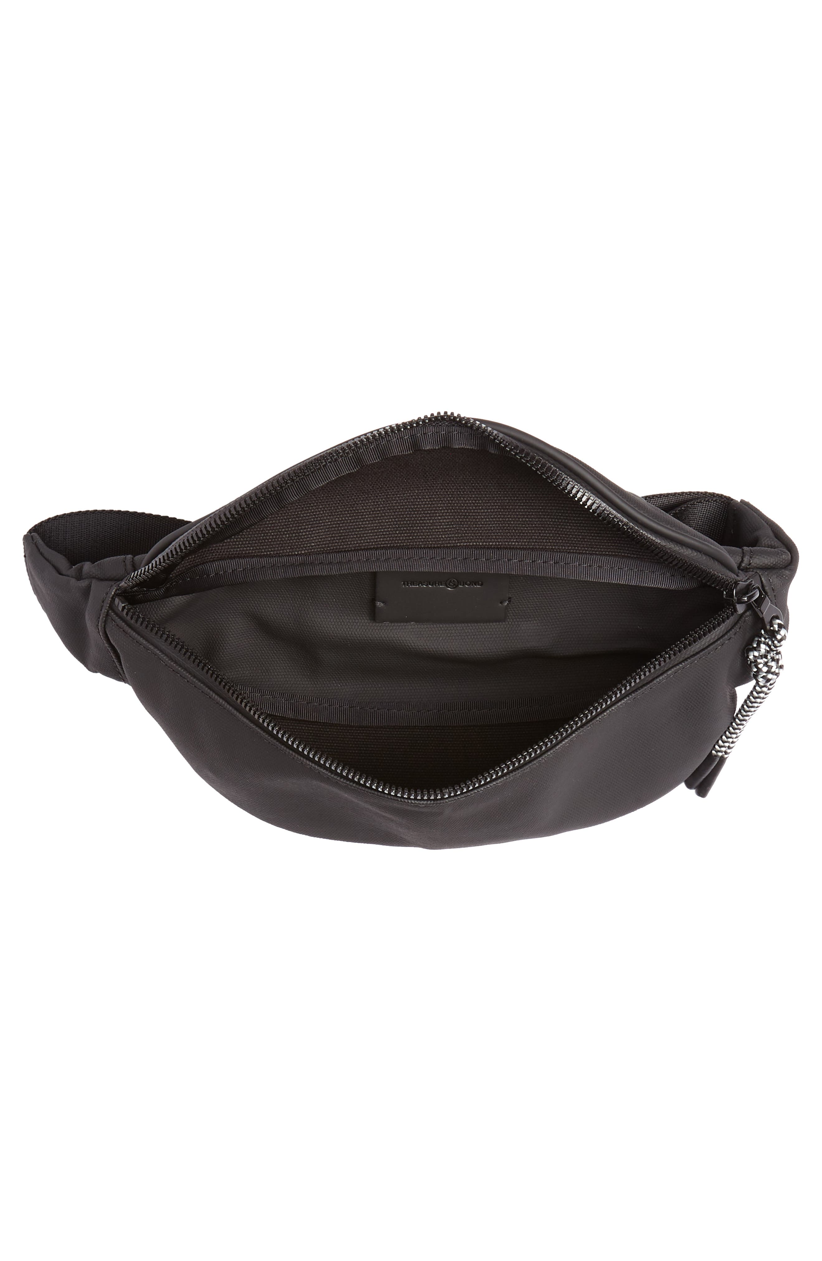 Mason Water Resistant Belt Bag,                             Alternate thumbnail 5, color,                             BLACK/ BLACK