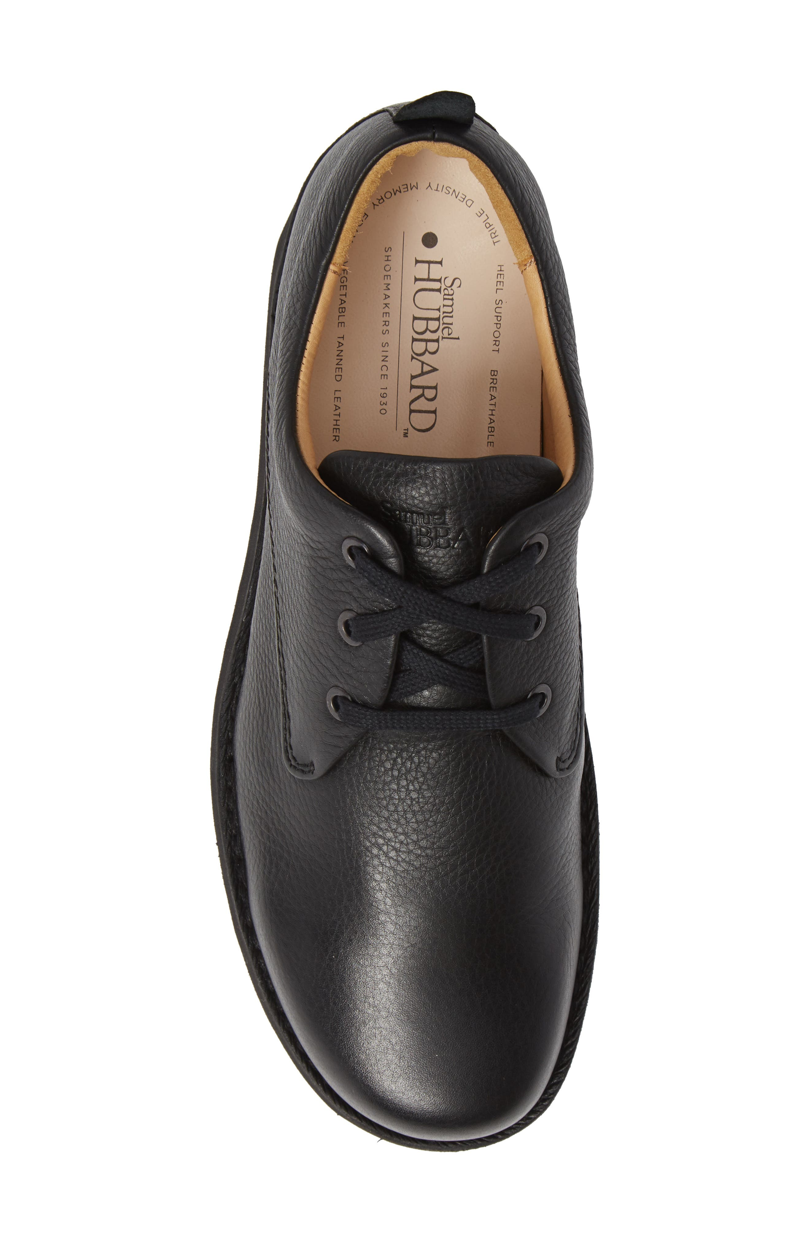 Free Plain Toe Derby,                             Alternate thumbnail 5, color,                             BLACK LEATHER