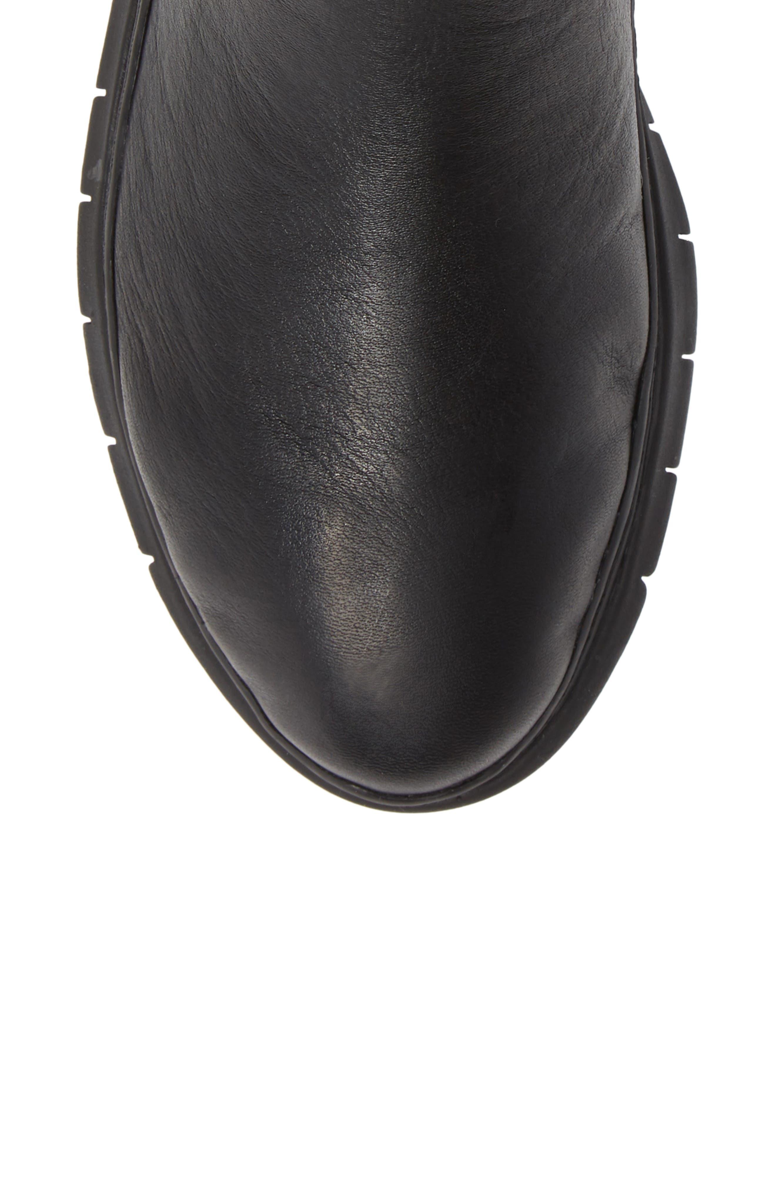 Kaufman Sneaker,                             Alternate thumbnail 5, color,                             BLACK LEATHER