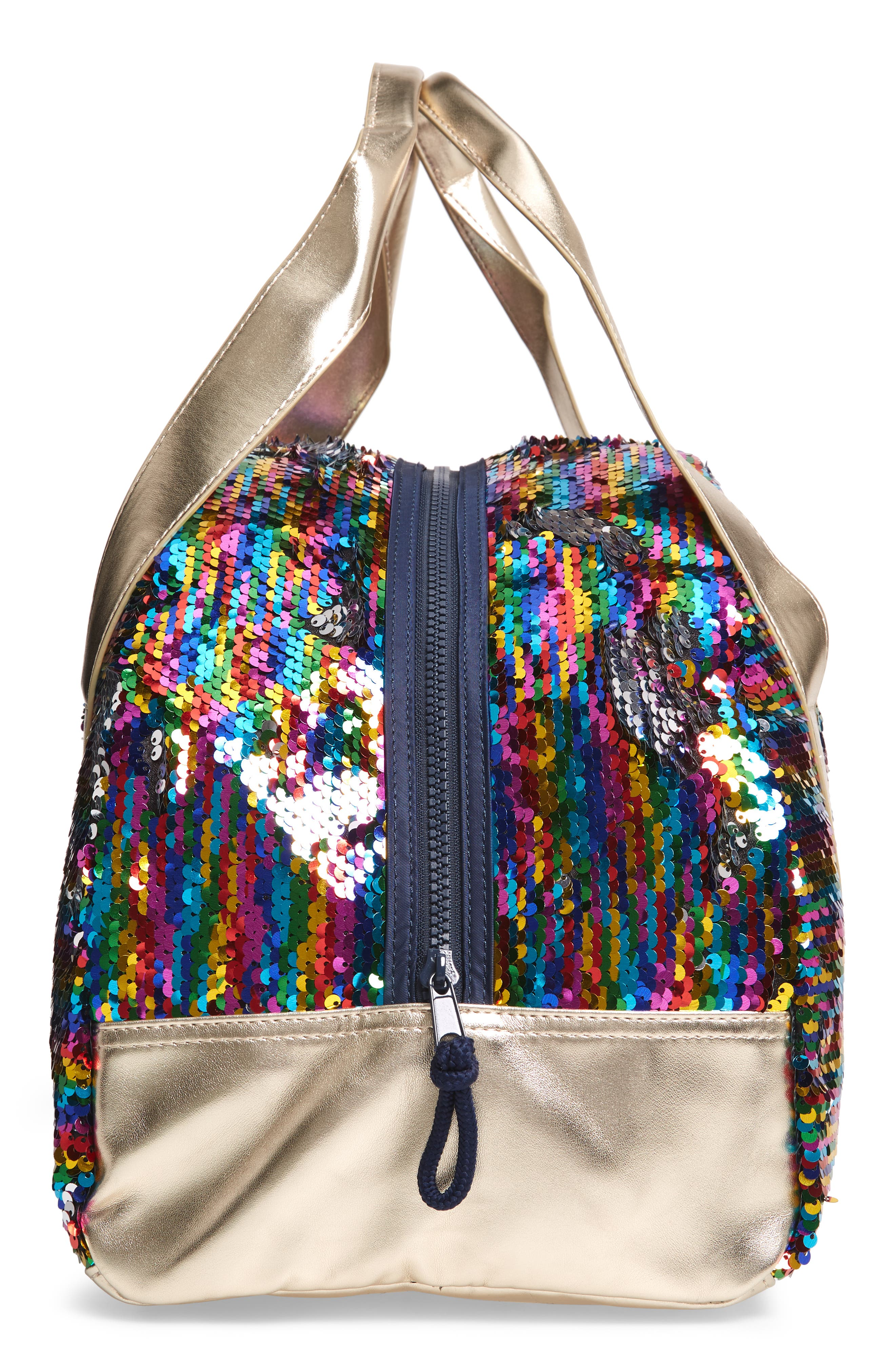 Overnight Bag with Reversible Sequins,                             Alternate thumbnail 4, color,                             964